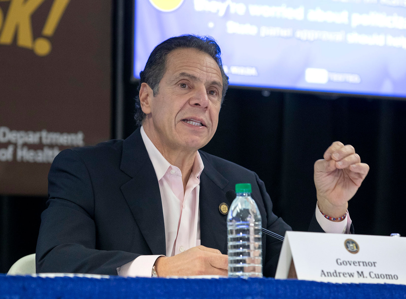 New York Gov. Andrew Cuomo delivers a Covid-19 update in Rochester, New York, on November 25.
