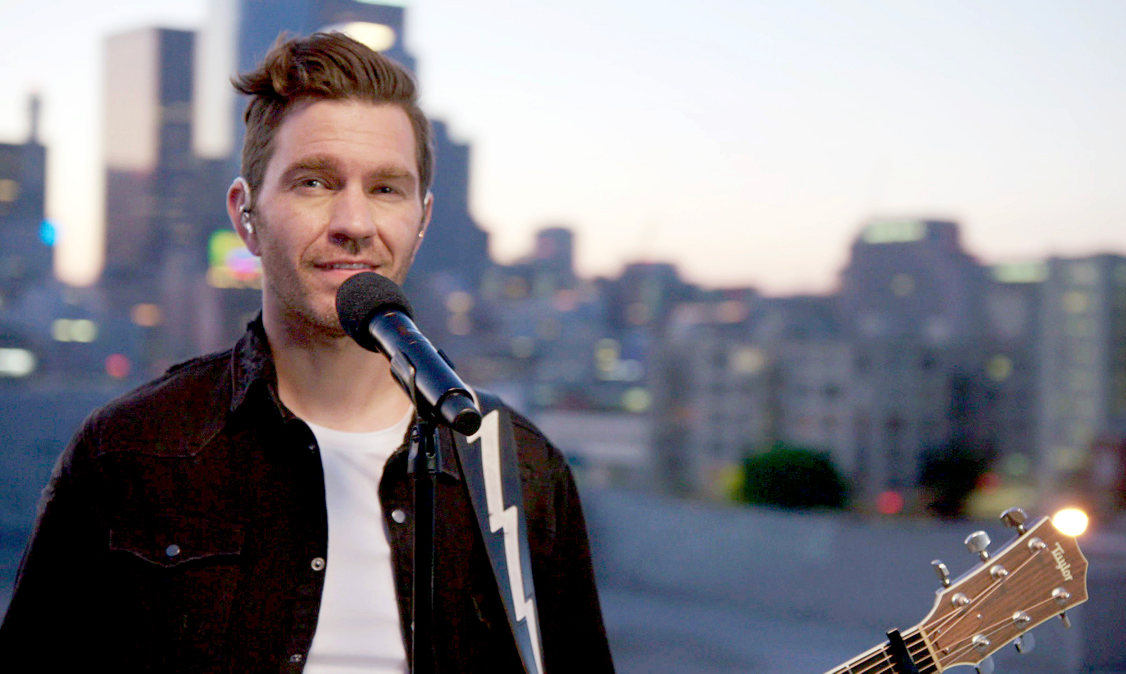 """American singer-songwriter, Andy Grammer performs for the 40th Anniversary of """"A Capitol Fourth"""" on PBS on July 4, 2020 in Washington, DC."""