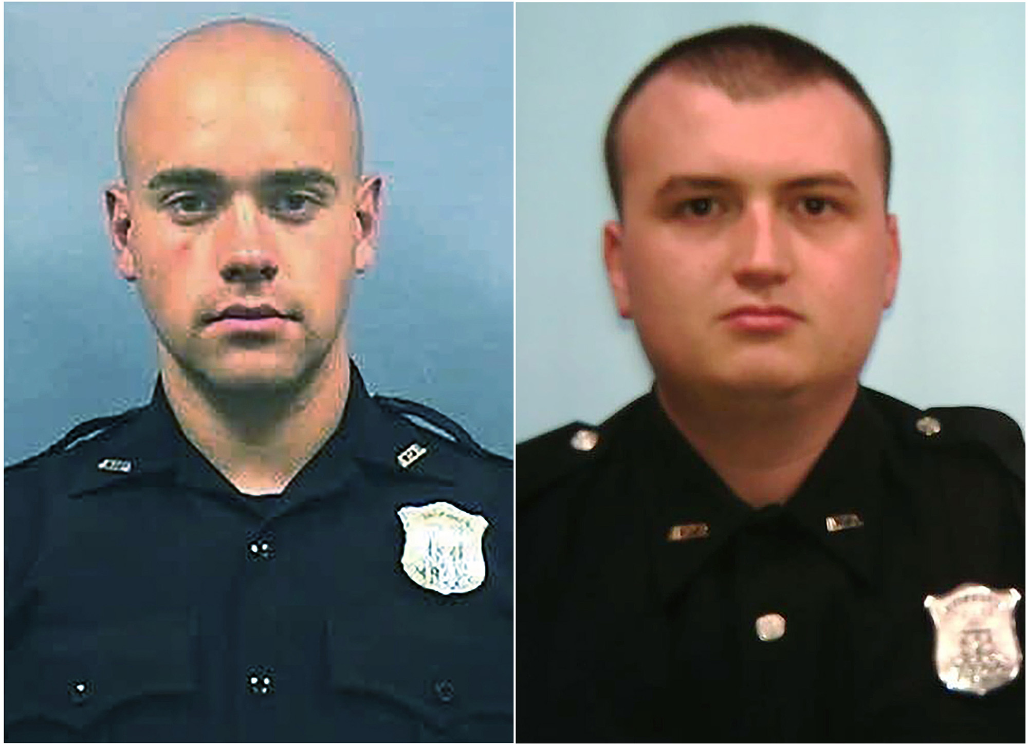 Atlanta Police Department Officer Garrett Rolfe, left and Officer Devin Brosnan. Rolfe, who fatally shot Rayshard Brooks in the back after the fleeing man pointed a stun gun in his direction, was charged with felony murder and 10 other charges.
