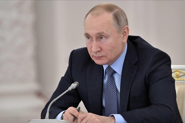 Russian President Vladimir Putin attends a meeting in Moscow, Russia, on December 26. Credit: Alexei Nikolsky/Sputnik/Kremlin Pool Photo via AP