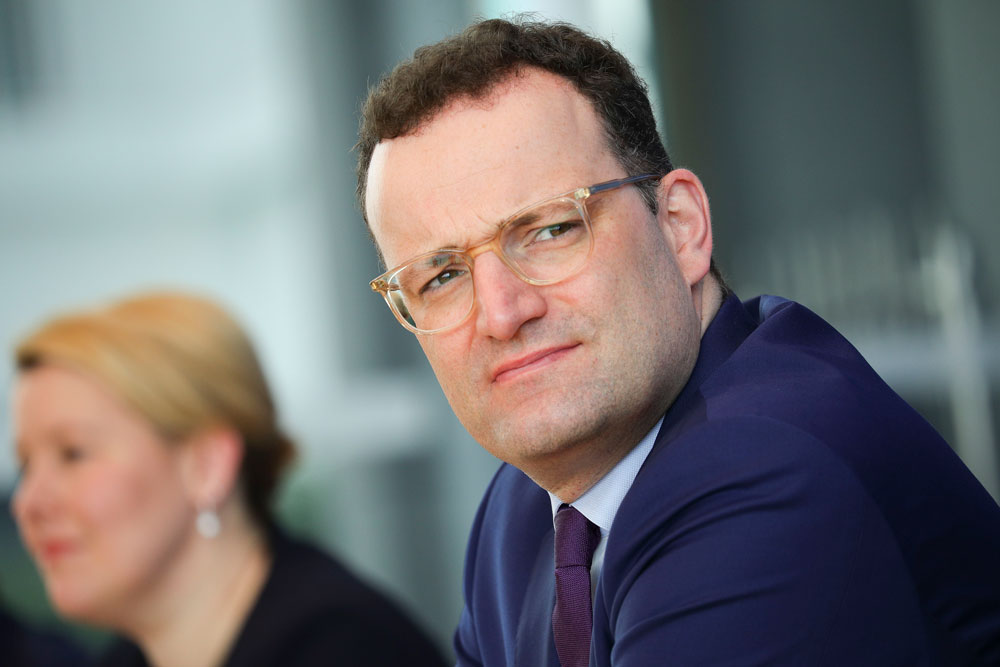 German Health Minister Jens Spahn speaks to the media during the coronavirus crisis on April 9, 2020 in Berlin, Germany.