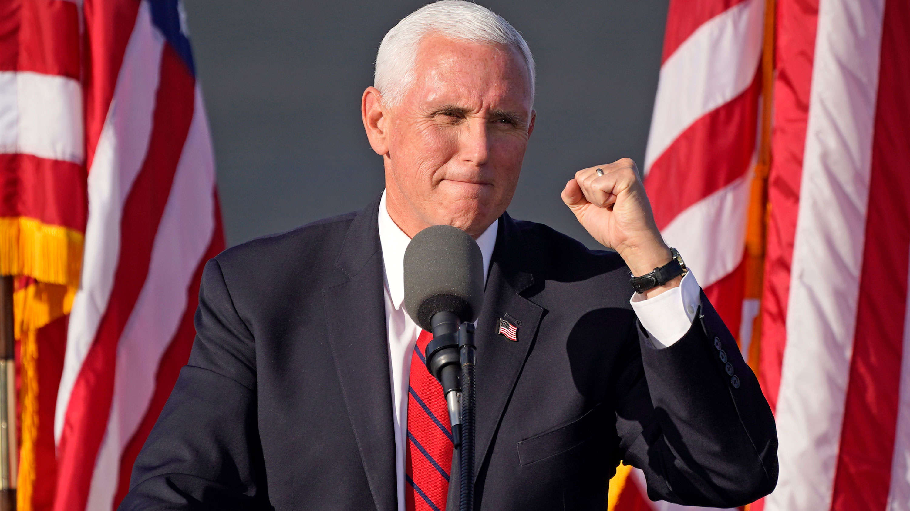 Vice President Mike Pence delivers remarks at a campaign rally in West Mifflin, Pennsylvania, on October 23.