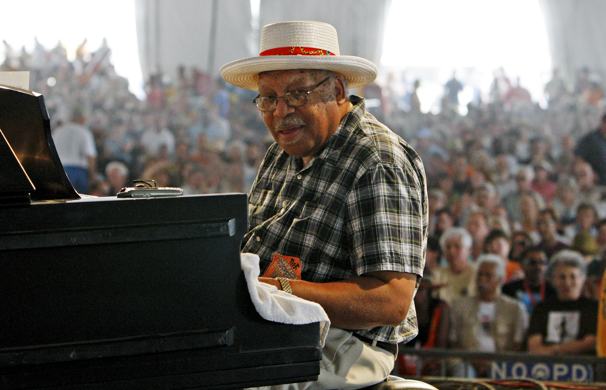 Recording artist Ellis Marsalis Jr. performs at the 2009 New Orleans Jazz and Heritage Festival in New Orleans Sunday, May 3, 2009.