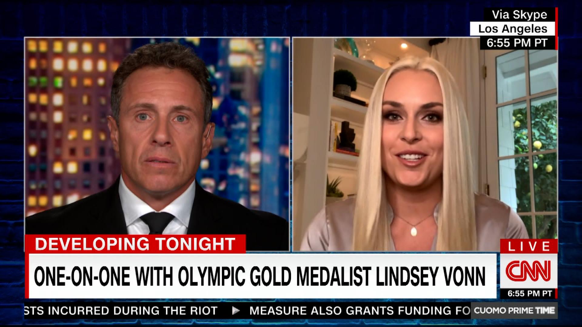 Former Olympic skier Lindsey Vonn talks to CNN's Chris Cuomo.