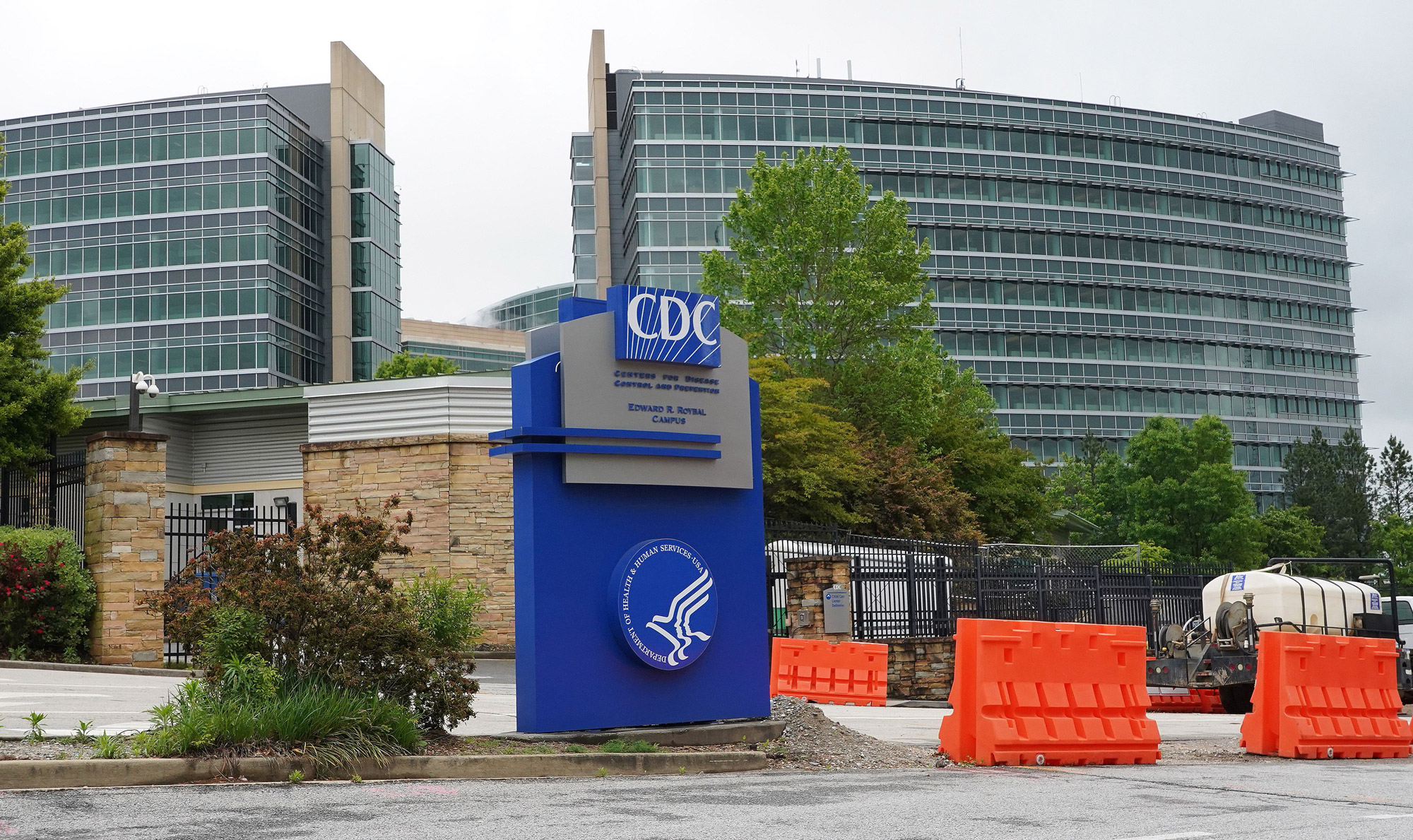 A general view of the Centers for Disease Control headquarters is seen in Atlanta on April 23.
