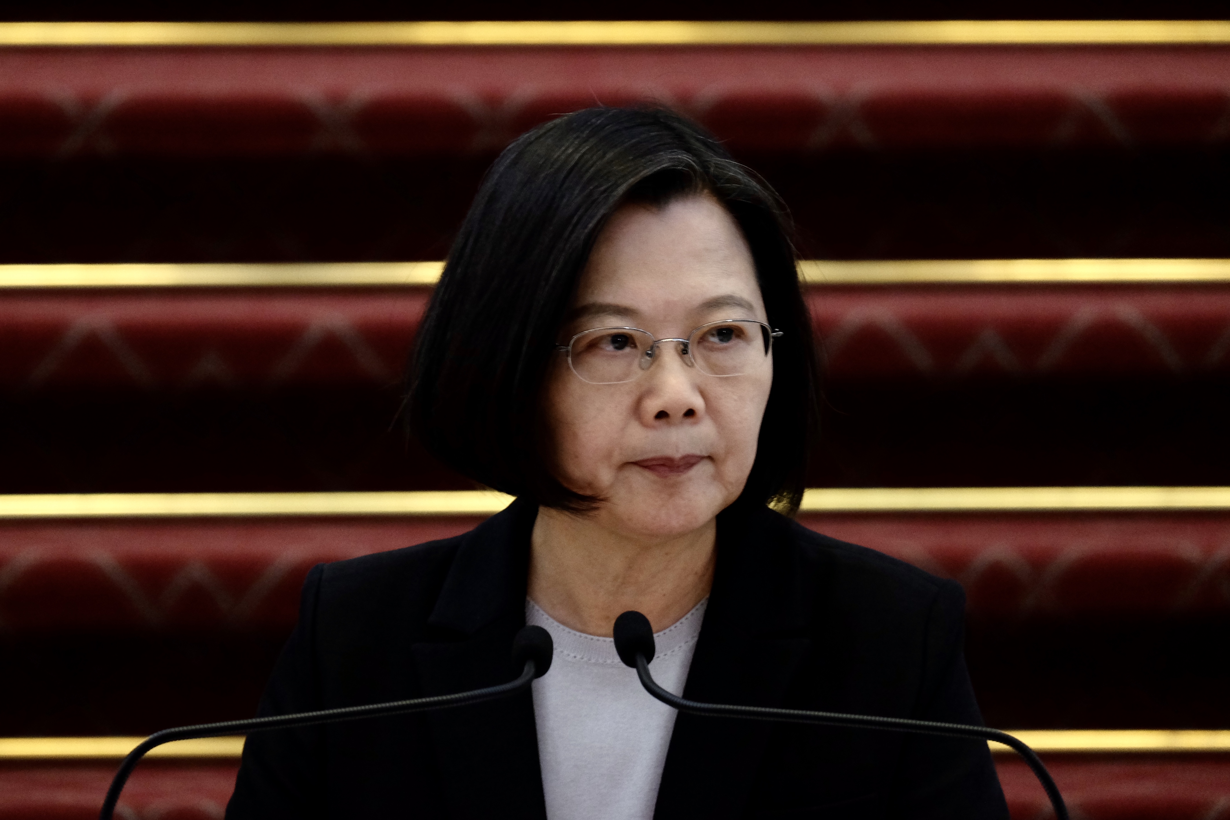 Taiwan President Tsai Ing-wen held a news conference over the outbreak.