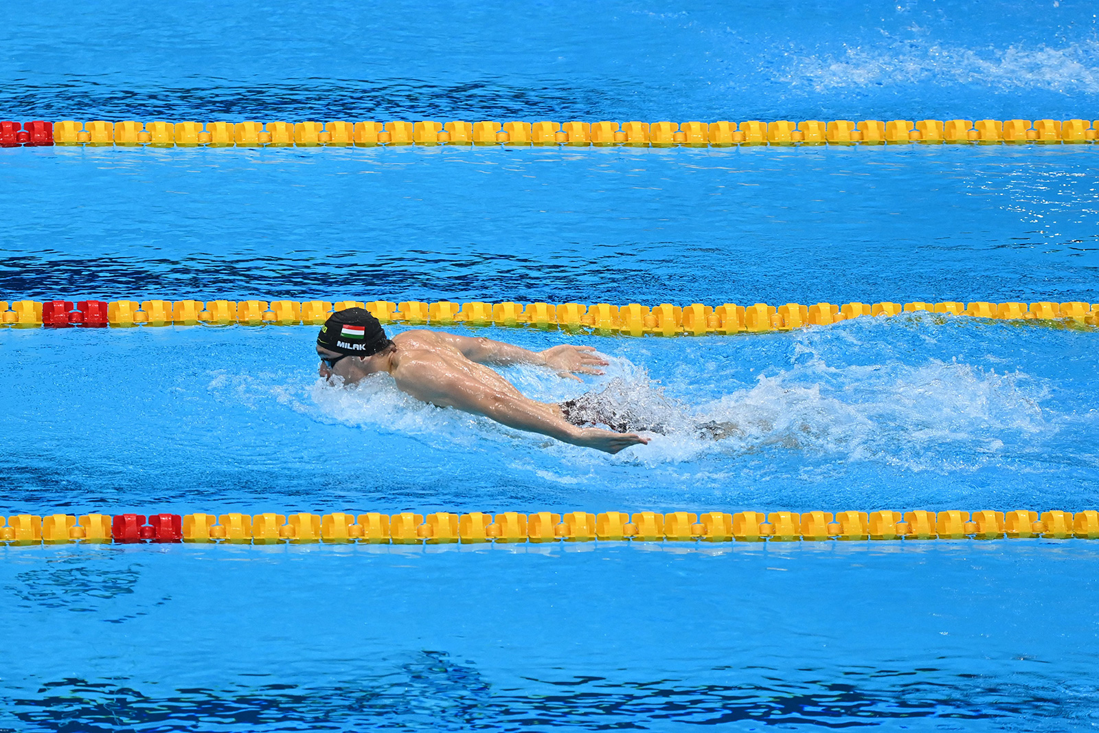 Hungary's Kristof Milak competes in the final of the 200m butterfly on July 28.