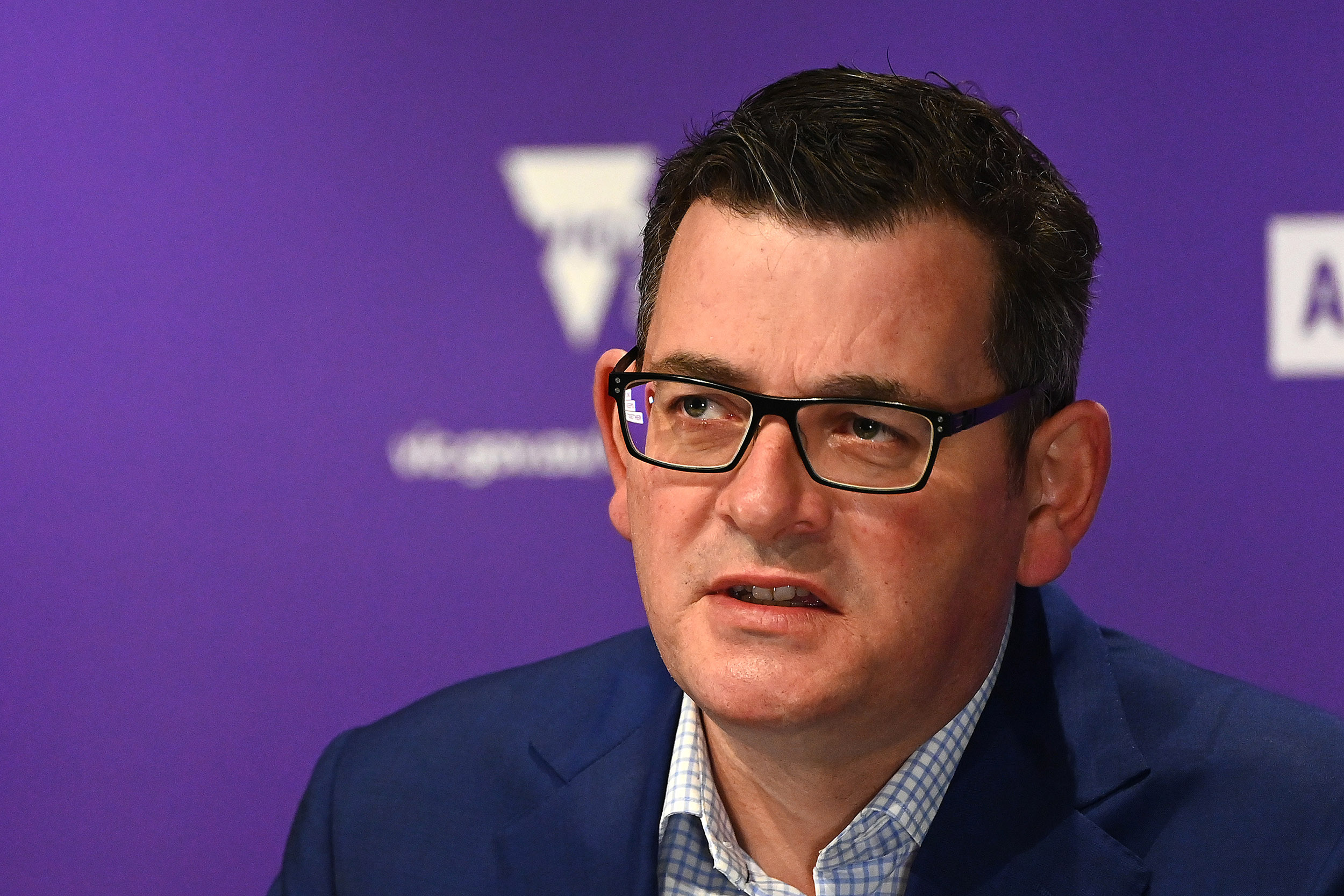 Victorian Premier Daniel Andrews speaks to the media on July 27, in Melbourne, Australia.
