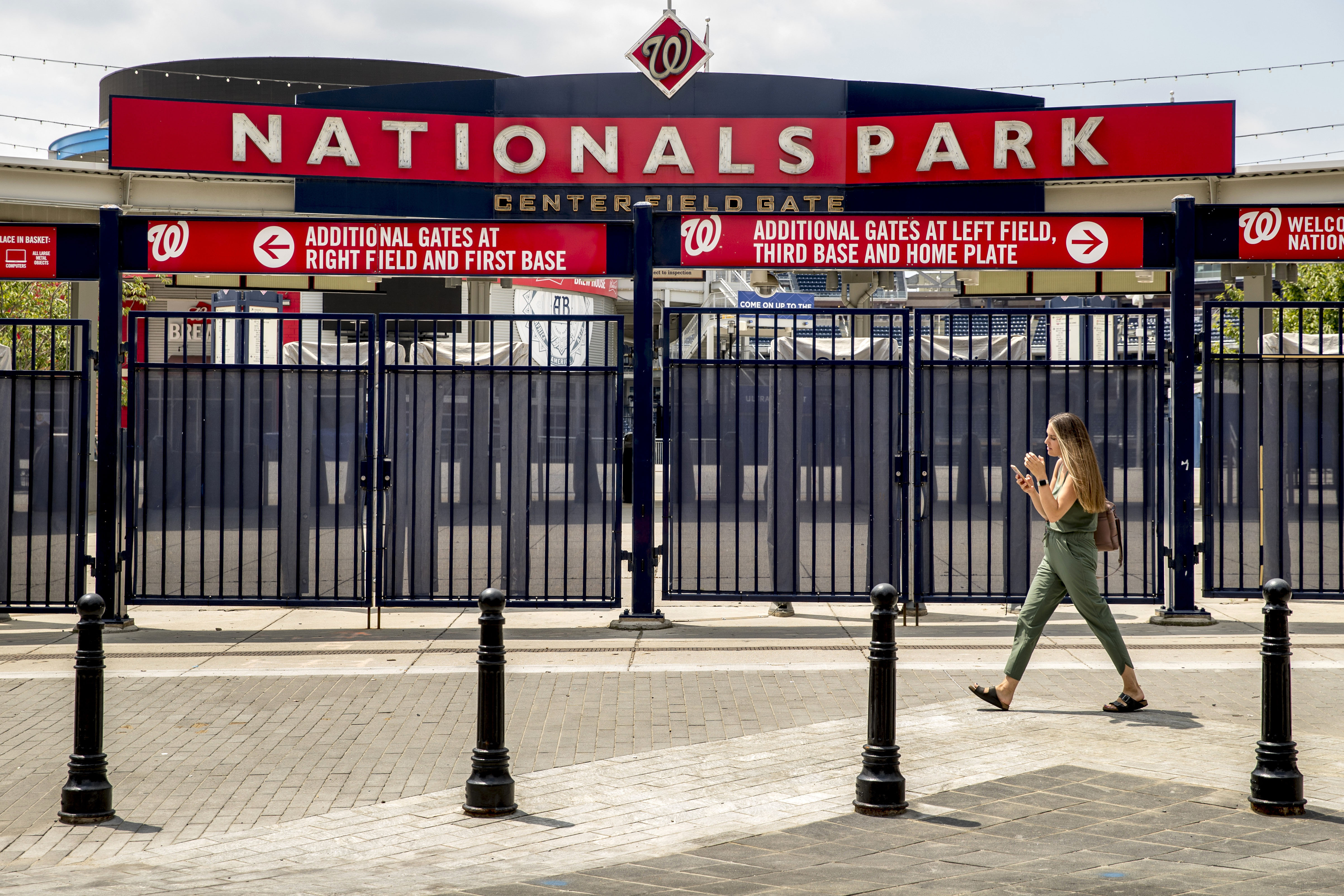 Nationals Park is pictured in Washington on July 1.