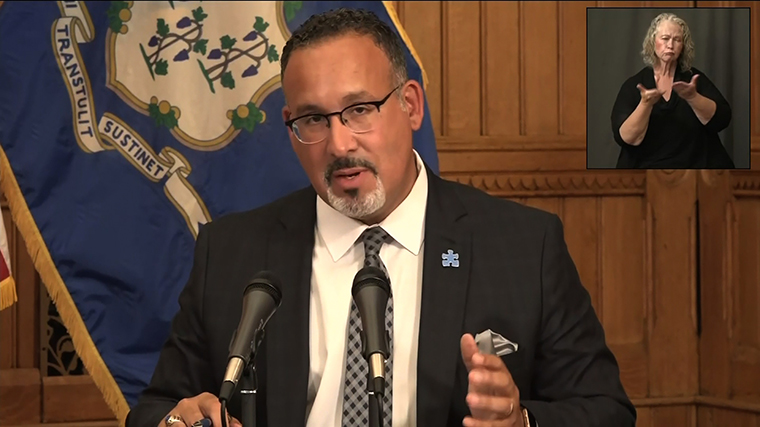 Miguel Cardona, the commissioner of the Connecticut Department of Education