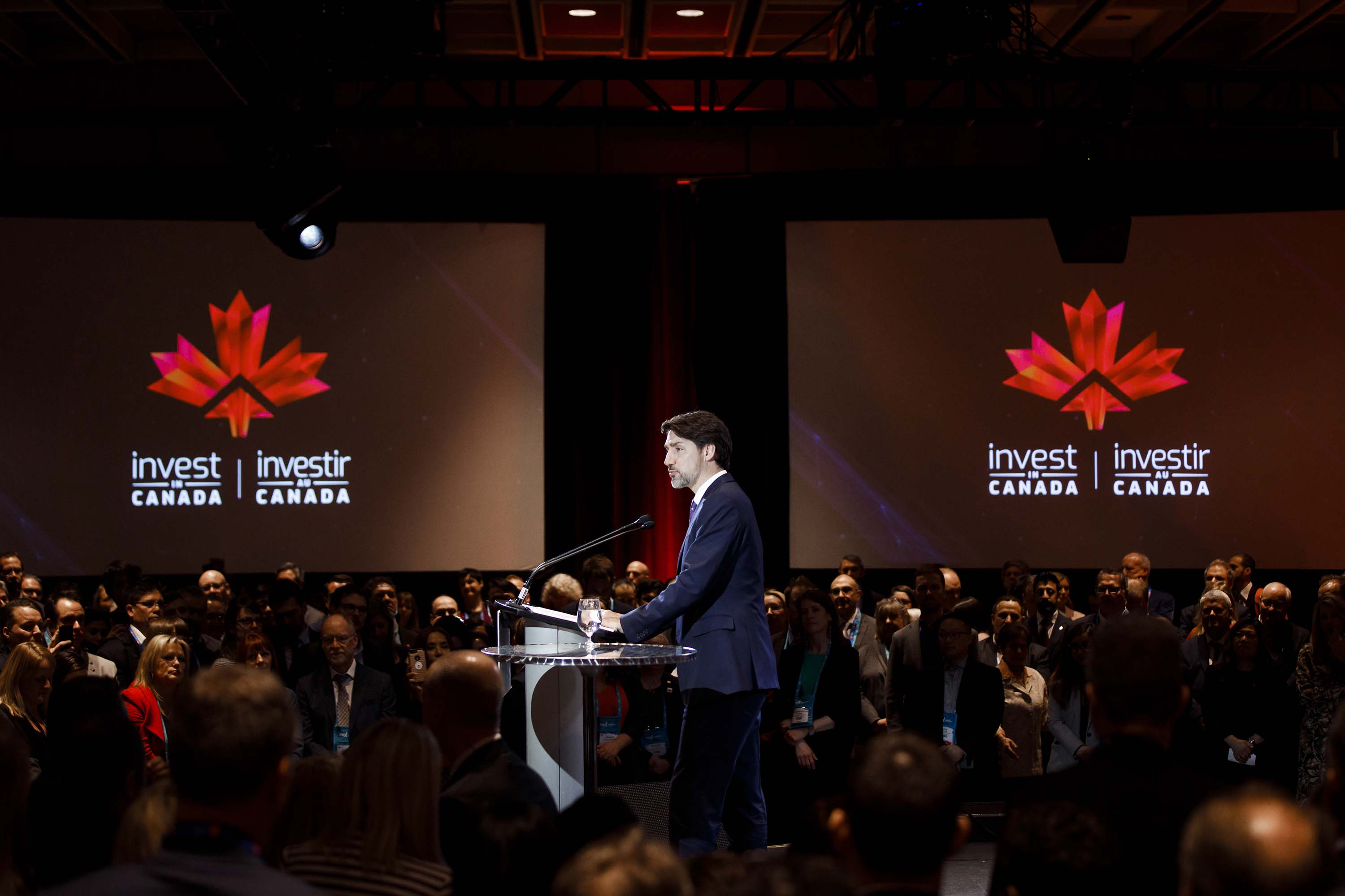 Justin Trudeau, Canada's prime minister, speaks during the Prospectors & Developers Association of Canada (PDAC) conference in Toronto, Canada, on March 2.