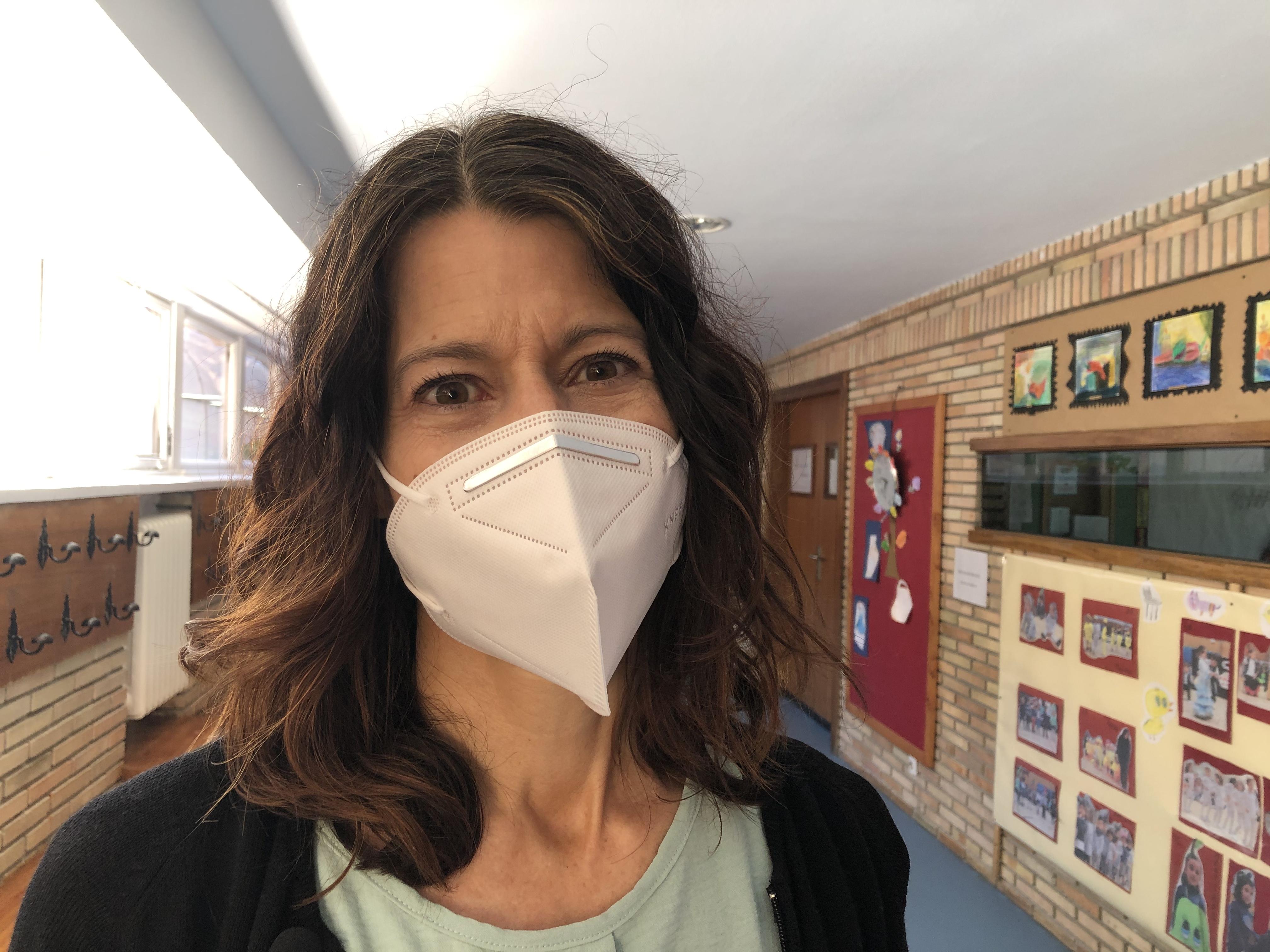Sarah O'Halloran, a coordinator at Colegio Virgen de Europa.