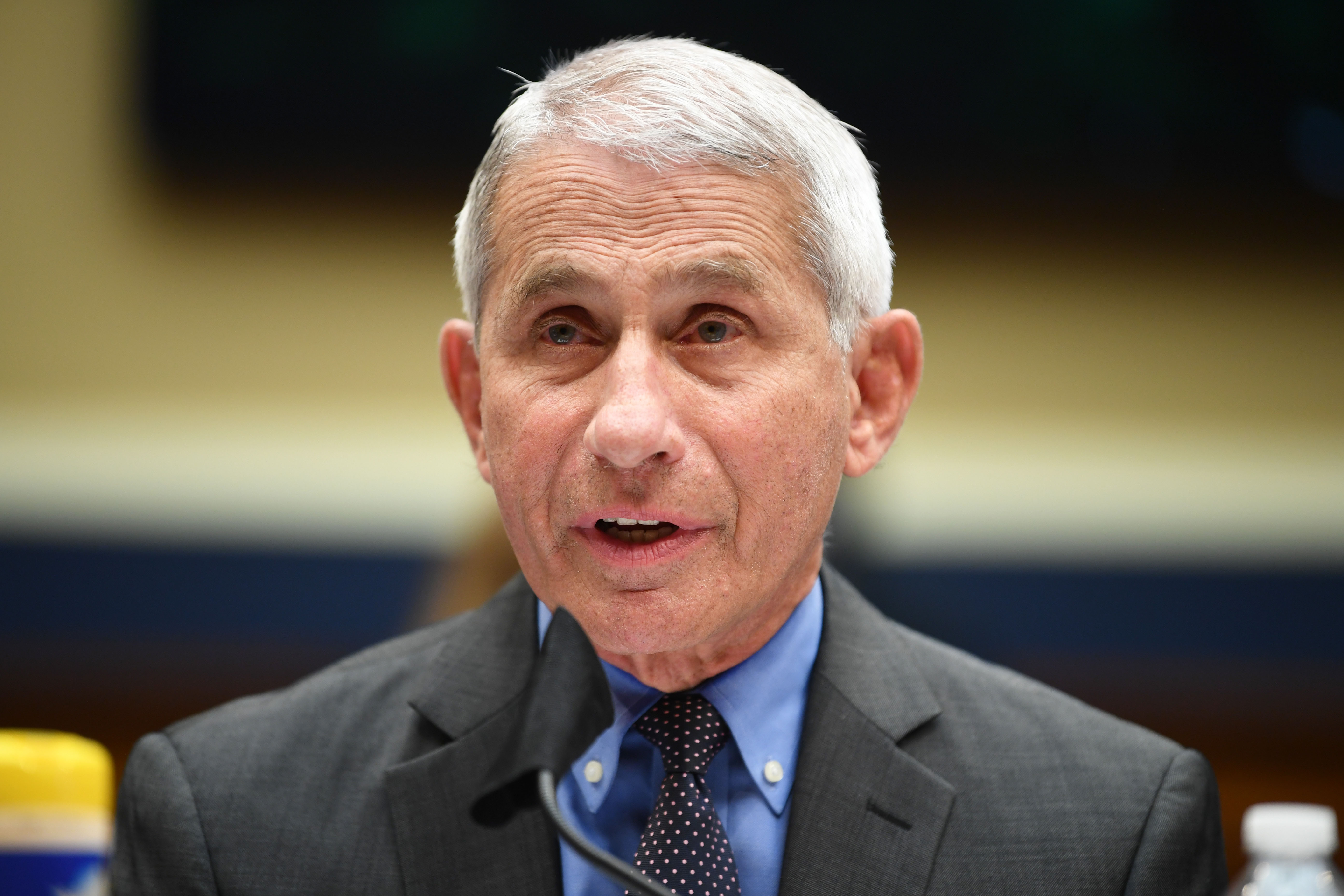 Dr. Anthony Fauci, the United States' top infectious disease expert, testifies at a hearing in Washington, DC, on June 23.