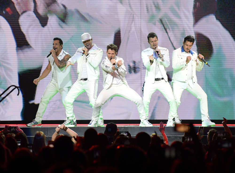 New Kids On The Block perform at Bridgestone Arena on May 9, 2019, in Nashville.