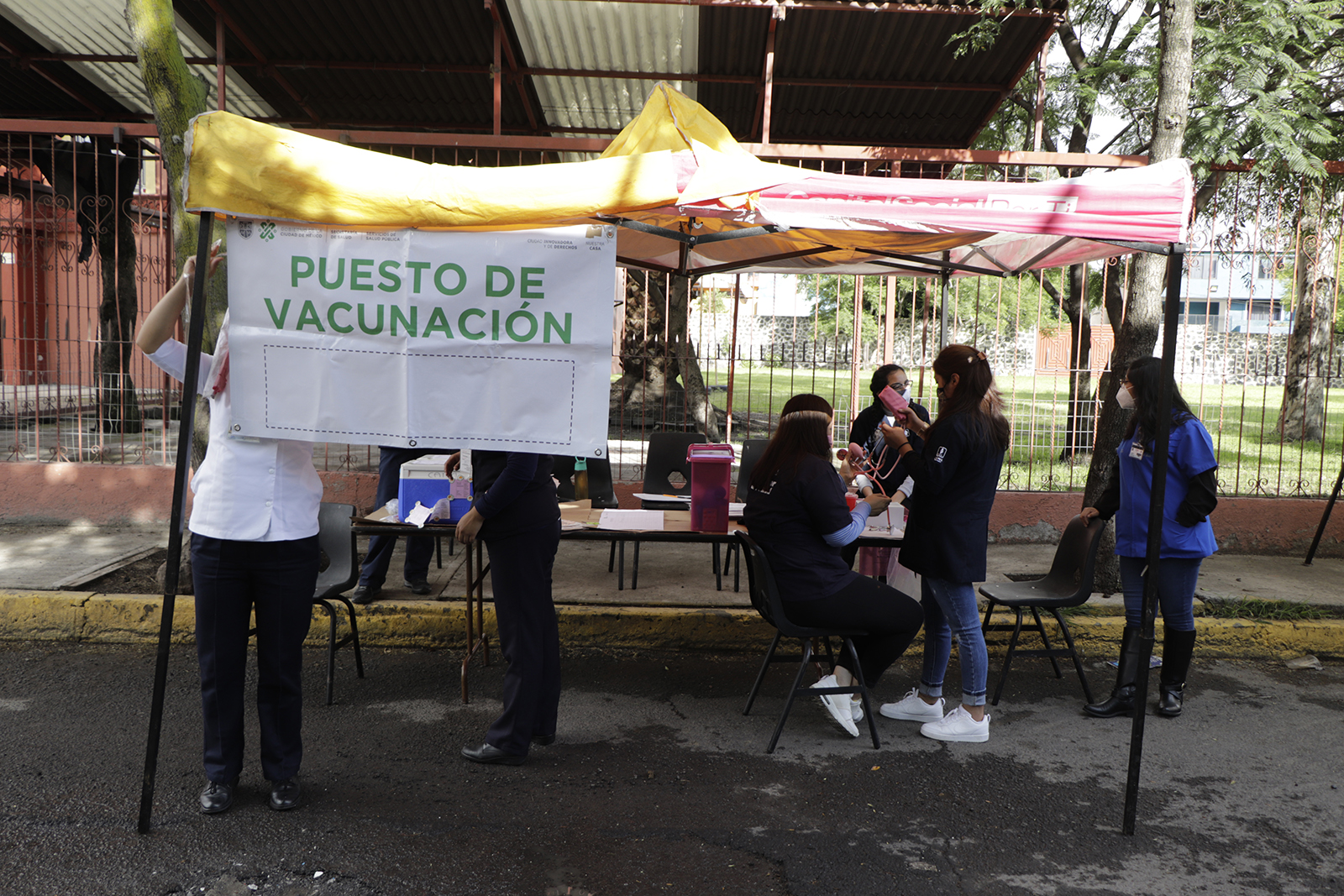 A health worker collects swab samples for Covid-19 testing on August 26, in Mexico City.