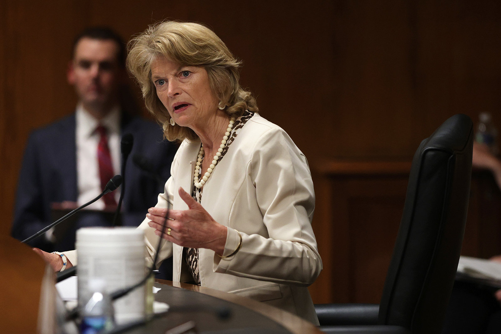 Sen. Lisa Murkowski speaks during a hearing on May 26, on Capitol Hill in Washington, DC.