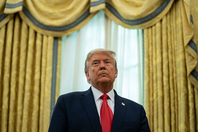 President Donald Trump in the Oval Office of the White House, Thursday, Dec. 3, 2020, in Washington.