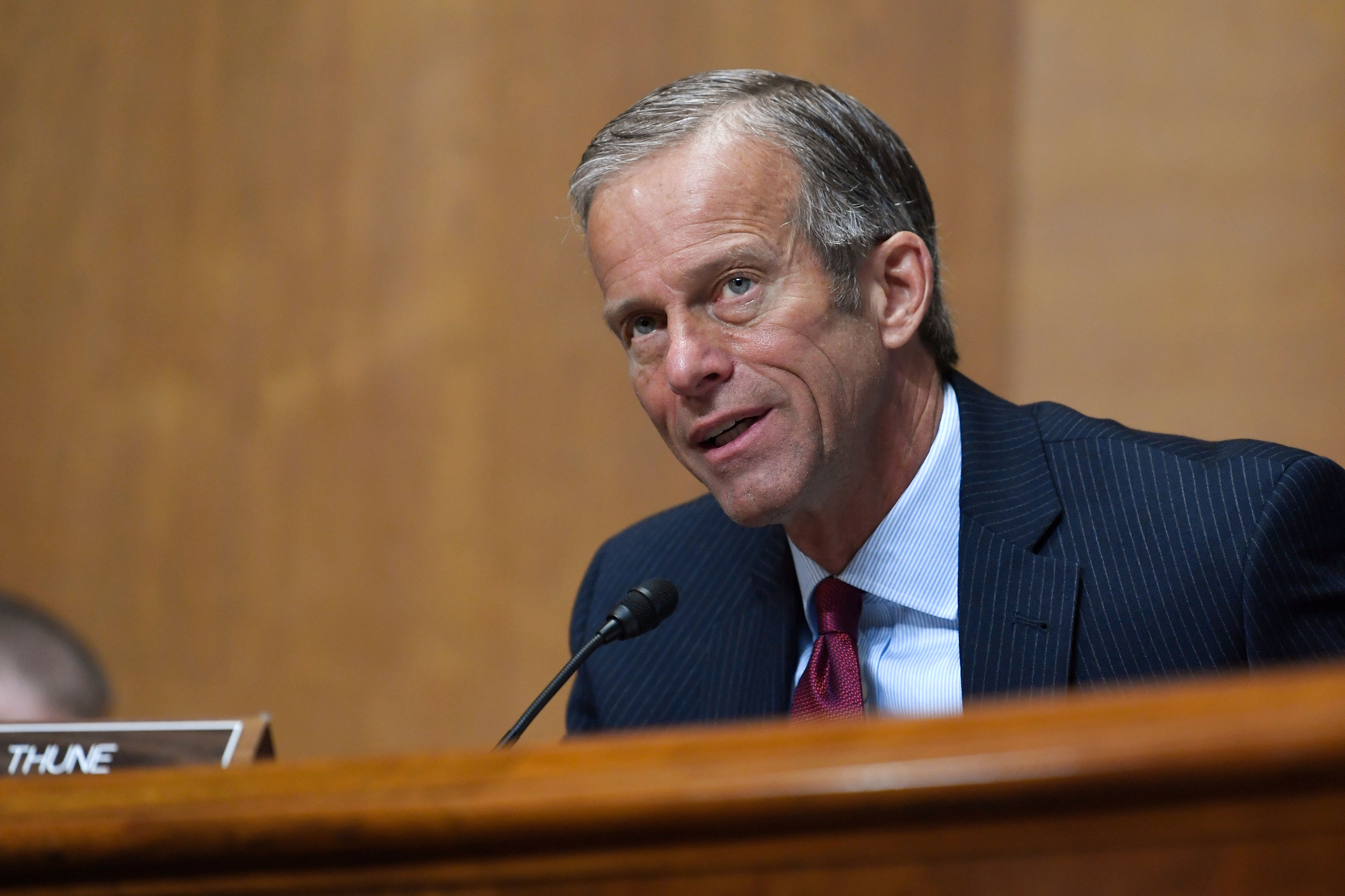 Sen. John Thune at a hearing in June.