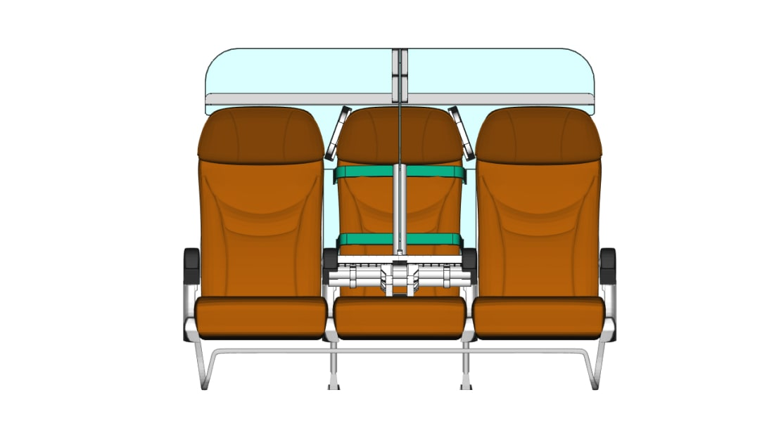 Barjot thinks airlines don't want a total redesign of the cabin, but an easily removable piece of kit that could be installed when necessary.