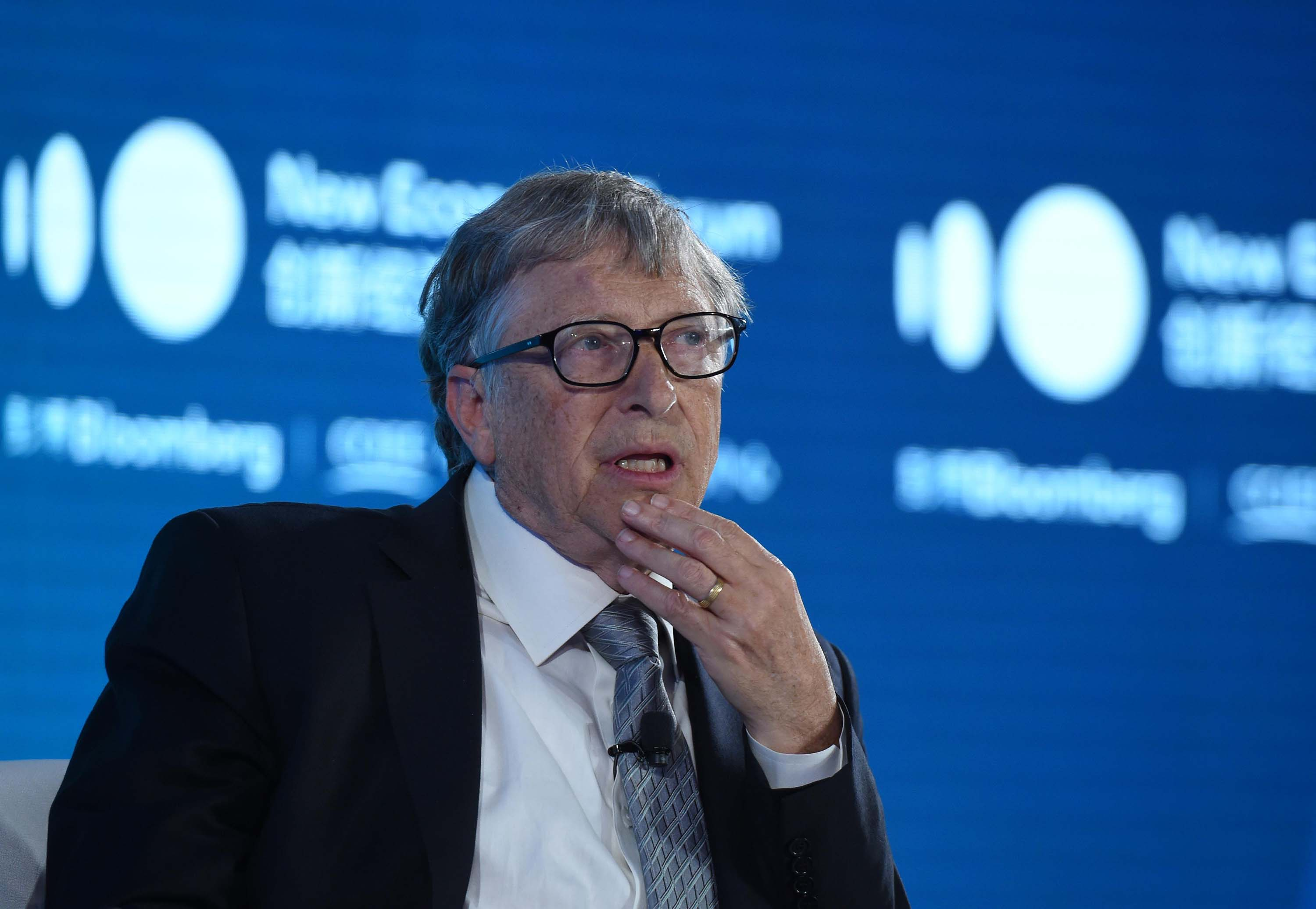 Bill Gates is pictured speaking during an event in Beijing, China, in November 2019.