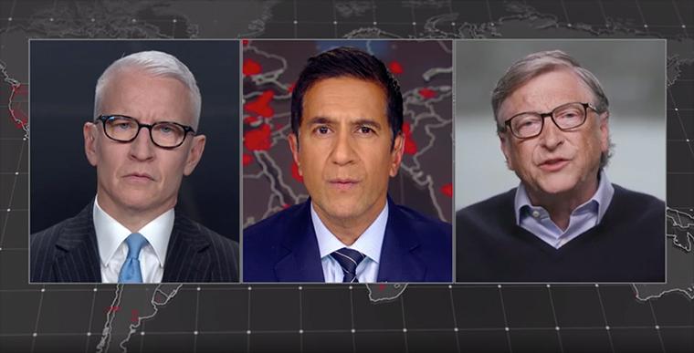 CNN's Anderson Cooper and Dr. Sanjay Gupta talk with Bill Gates.
