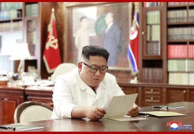 """North Korean leaderKimJong Un received a """"personalletter"""" from US President DonaldTrumpaccording to North Korean state news agency KCNA."""