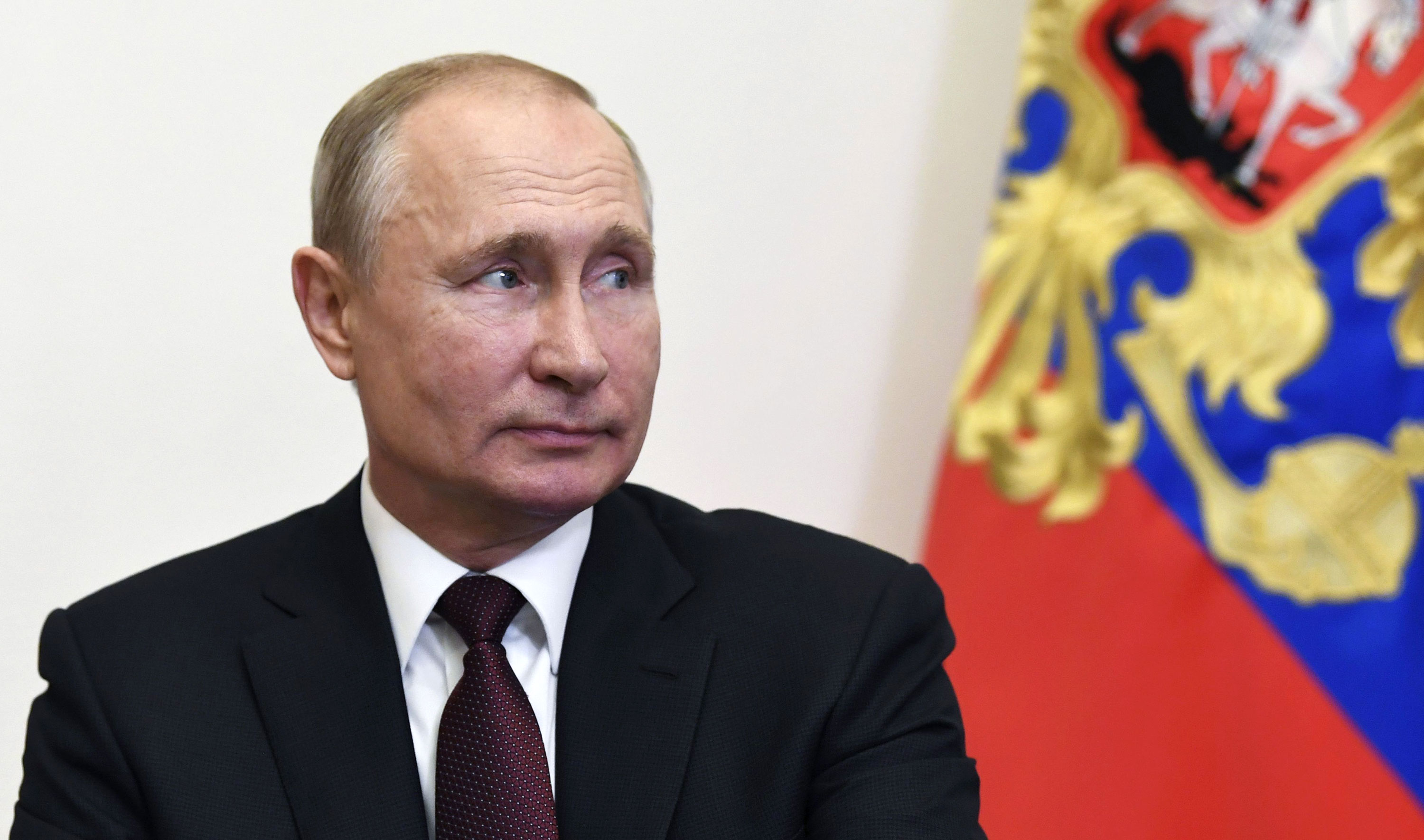 Russian President Vladimir Putin attends a meeting on June 3 in Moscow.