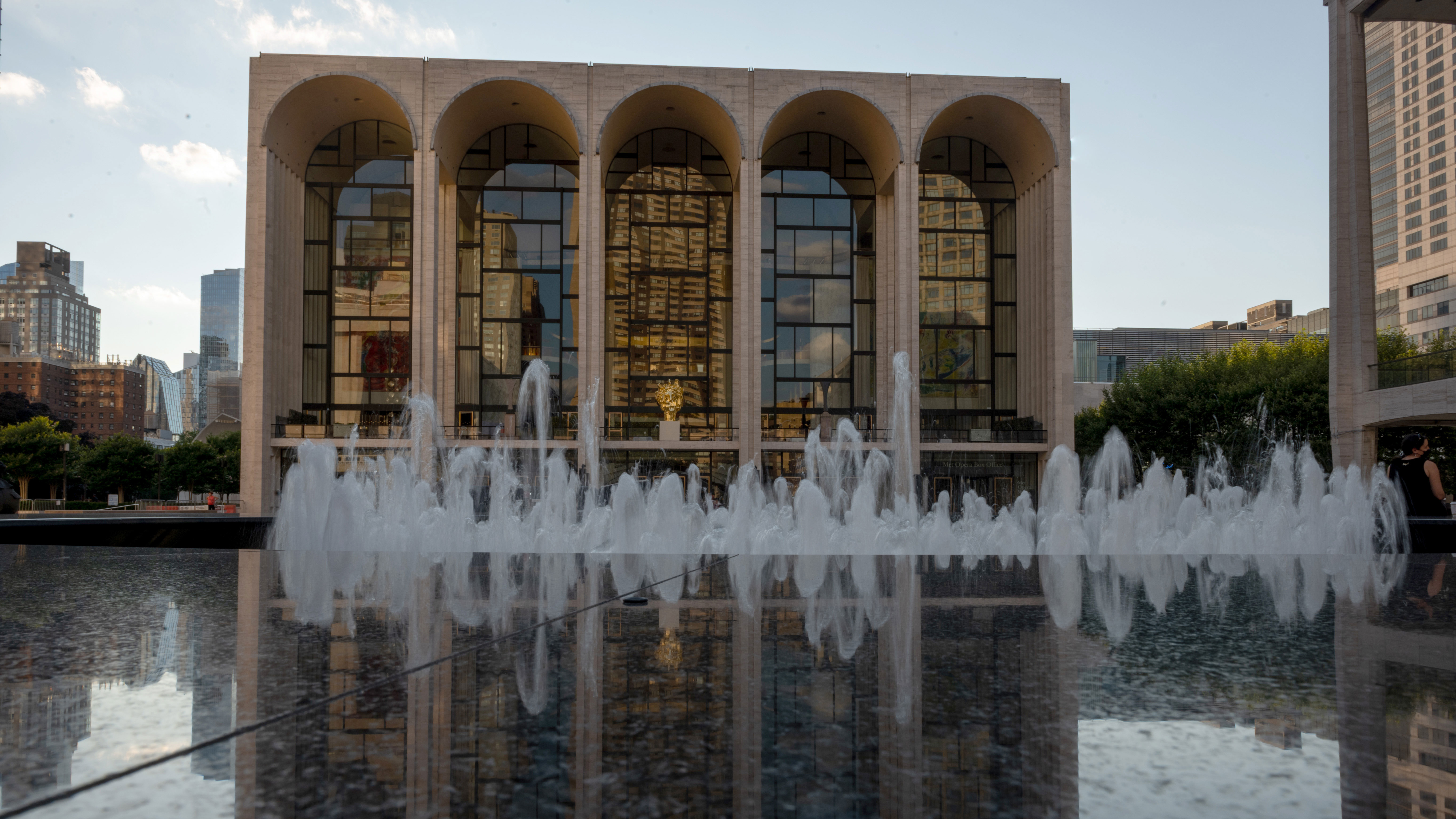The Metropolitan Opera House in New York is pictured on July 13.