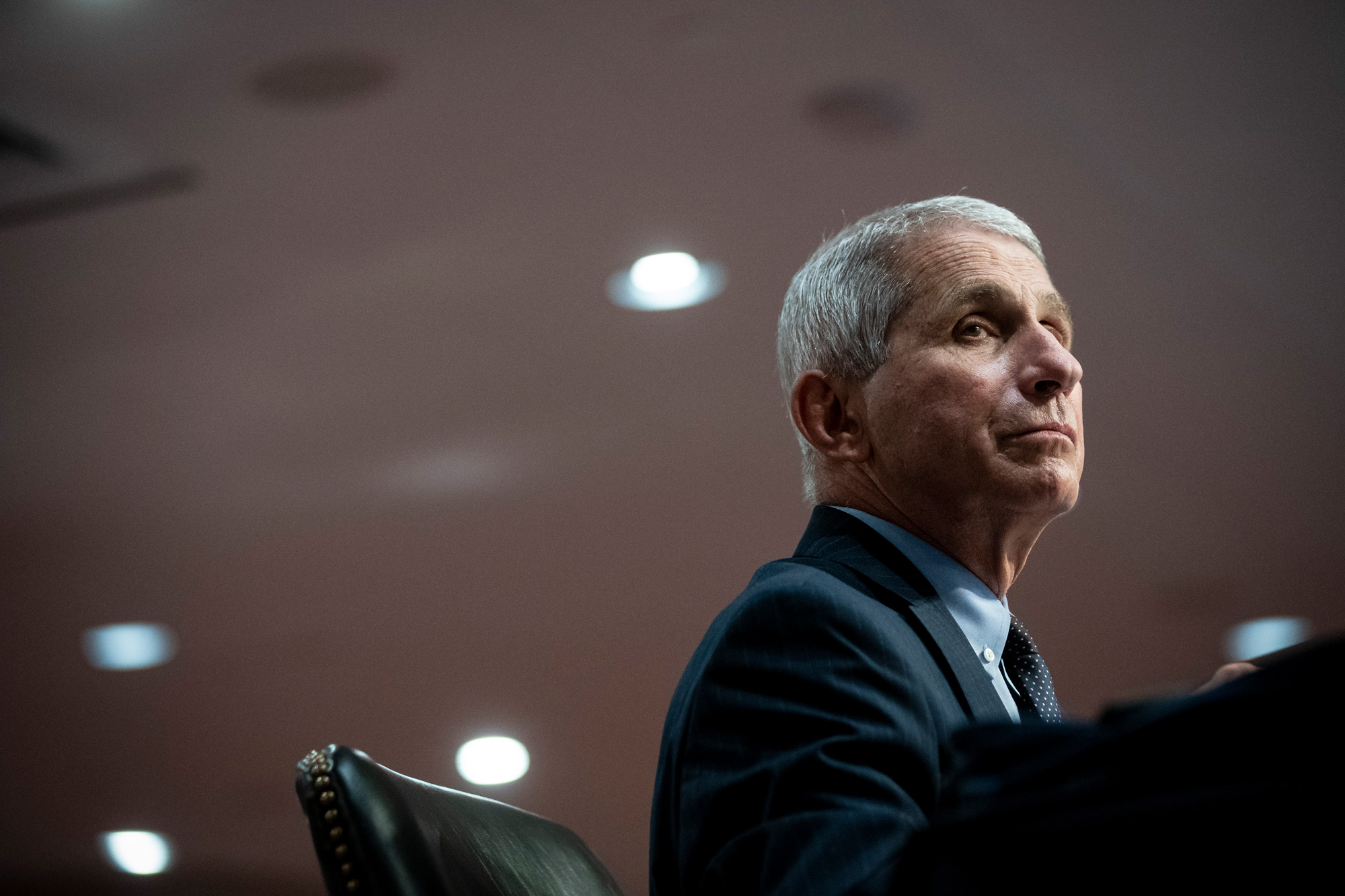 Dr. Anthony Fauci, director of the National Institute of Allergy and Infectious Diseases, listens during a Senate Health, Education, Labor and Pensions Committee hearing on June 30 in Washington, DC.