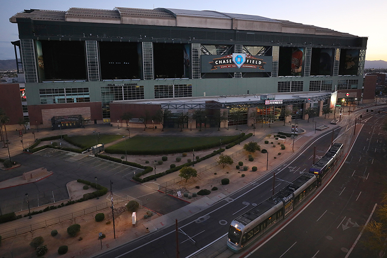 Chase Field, where the Arizona Diamondbacks play, could be used in this plan.