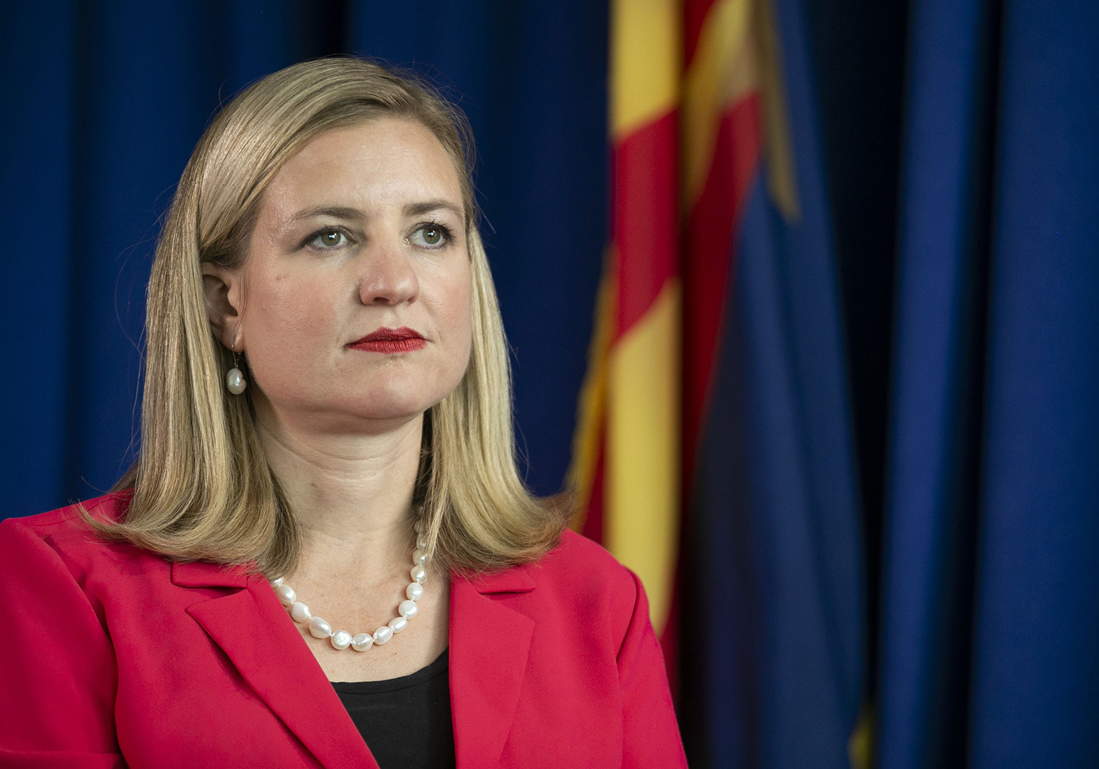 Phoenix Mayor Kate Gallego as seen in the mayor's conference room at Phoenix City Hall, on June 5.
