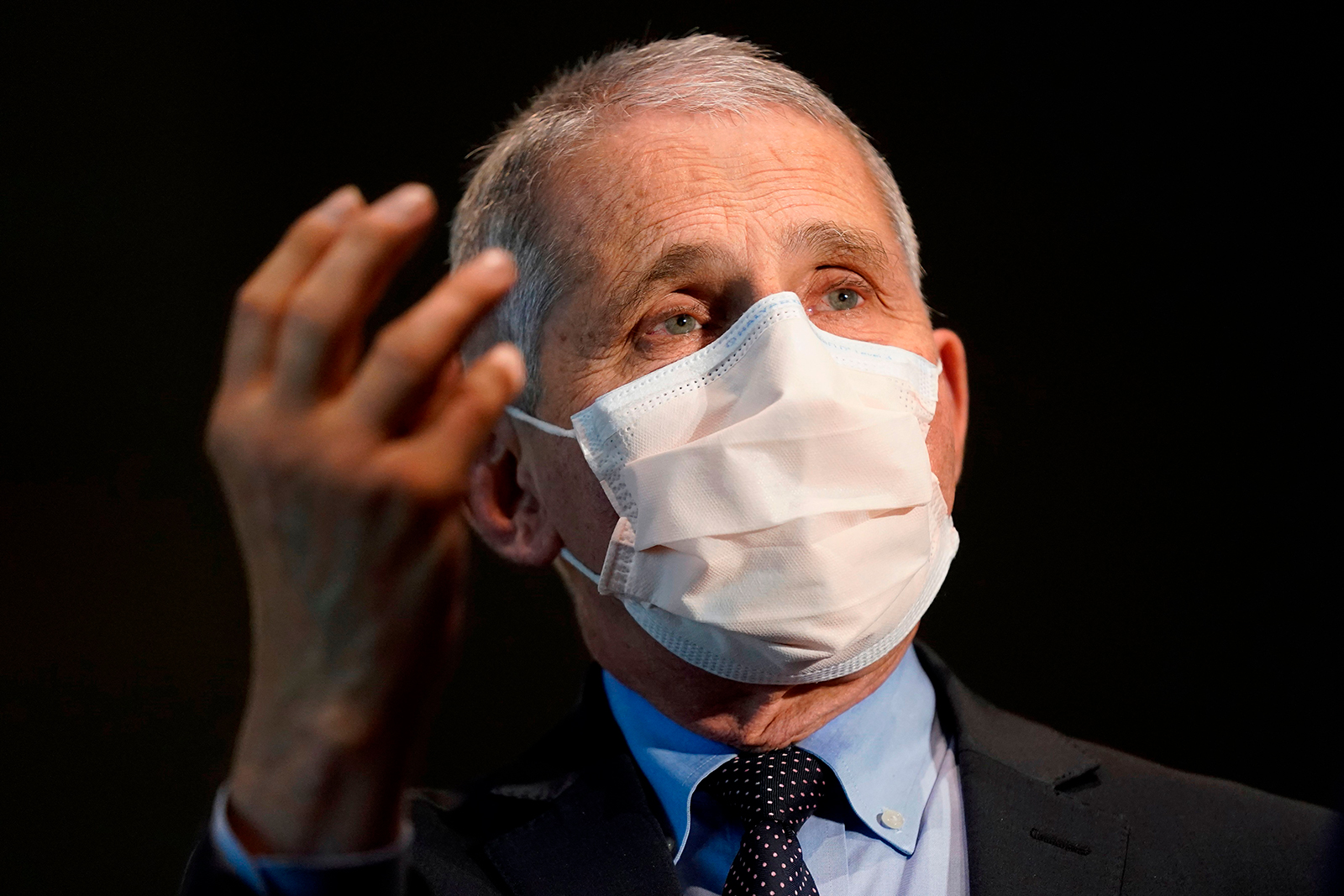 Anthony Fauci seen at the National Institutes of Health on December 22, 2020, in Bethesda, Maryland.