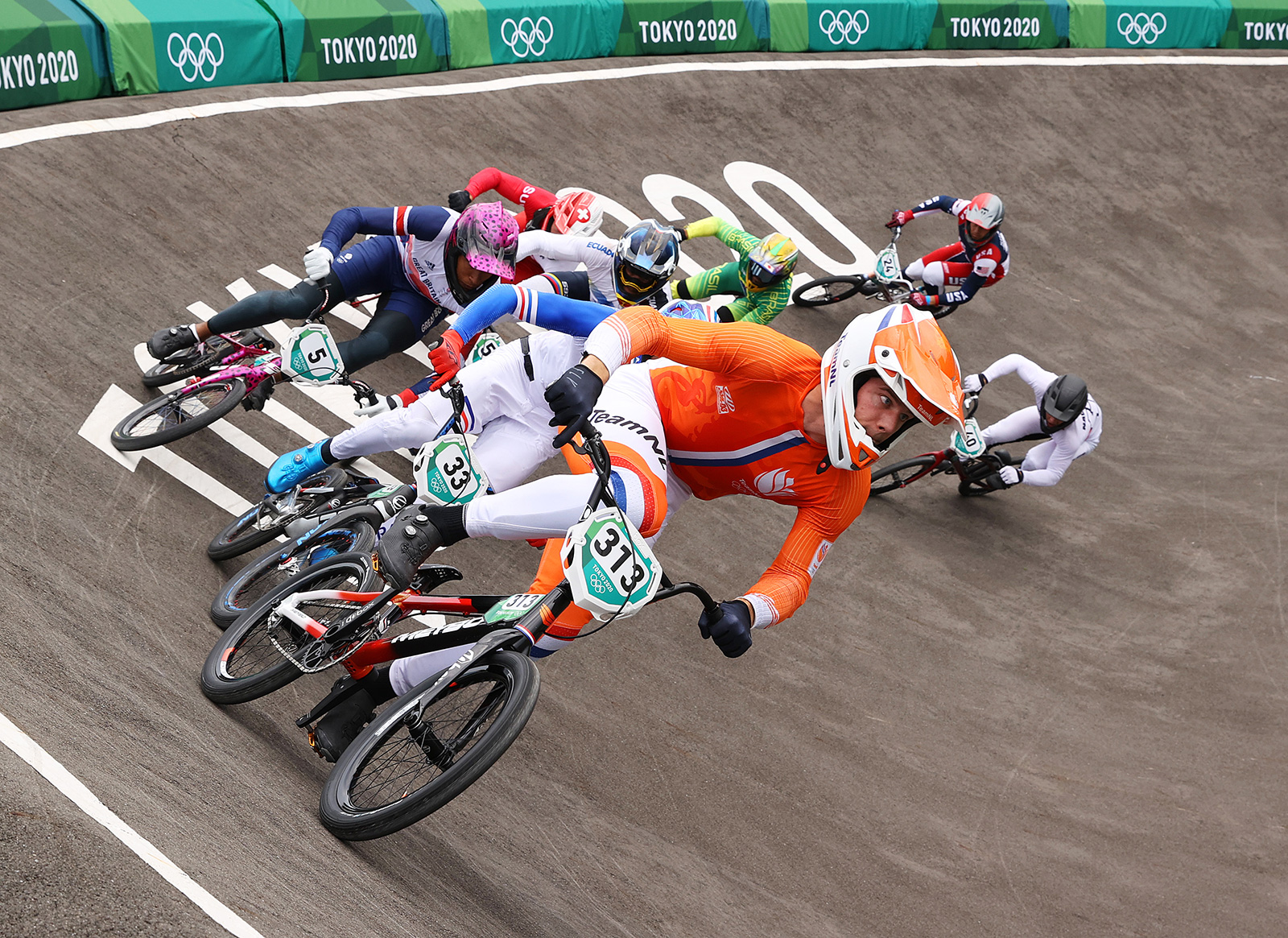 Kye Whyte of Team Great Britain competes in the BMX semifinals on Friday.