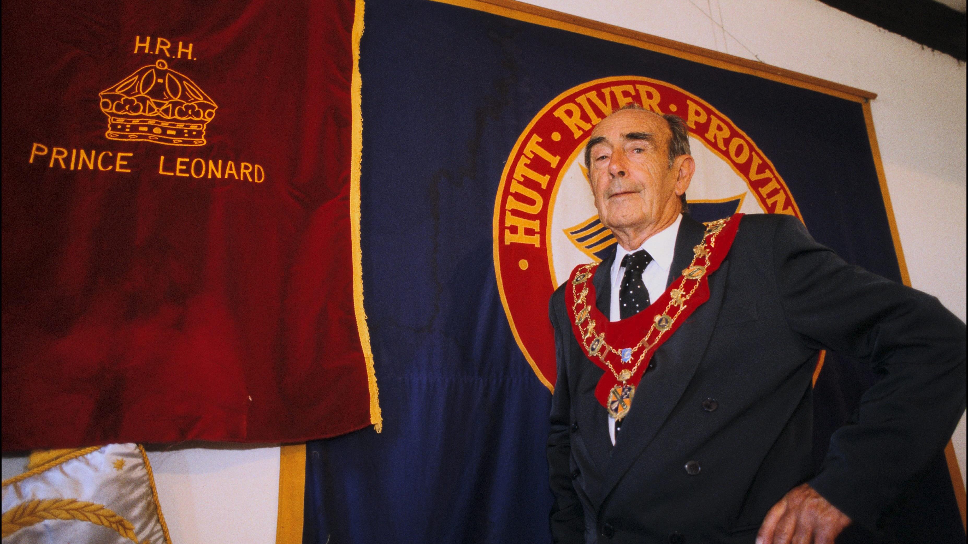 Hutt River founder Prince Leonard Casley in 1998.