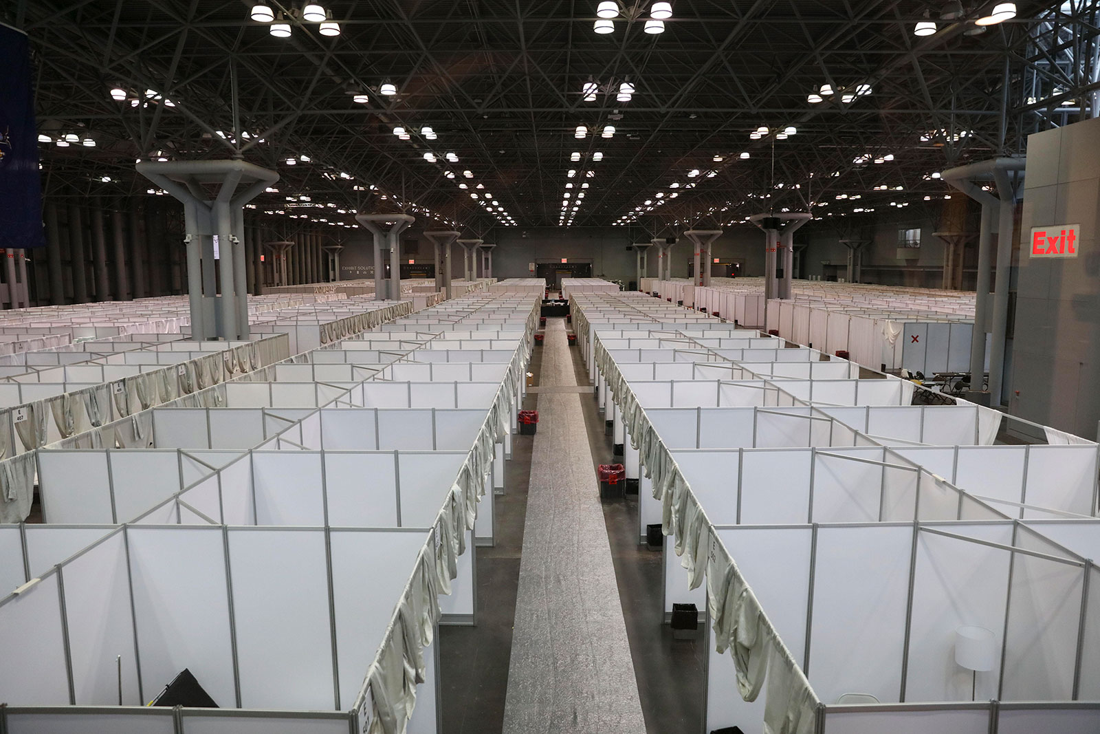 The inside of the Javits Center set up as a field hospital on March 30.