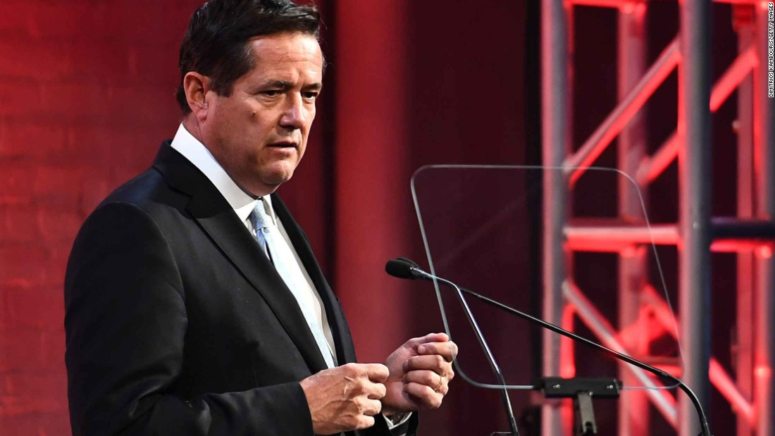 Barclays CEO Jes Staley speaks at a conference.
