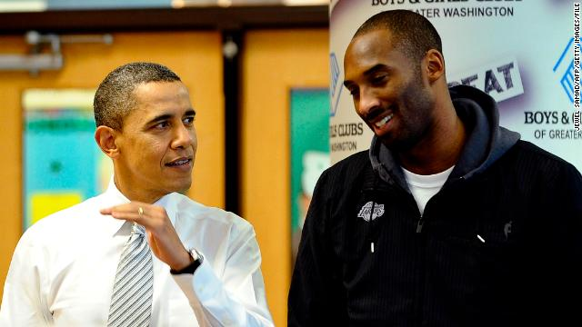 Former President Barack Obama with Kobe Bryant