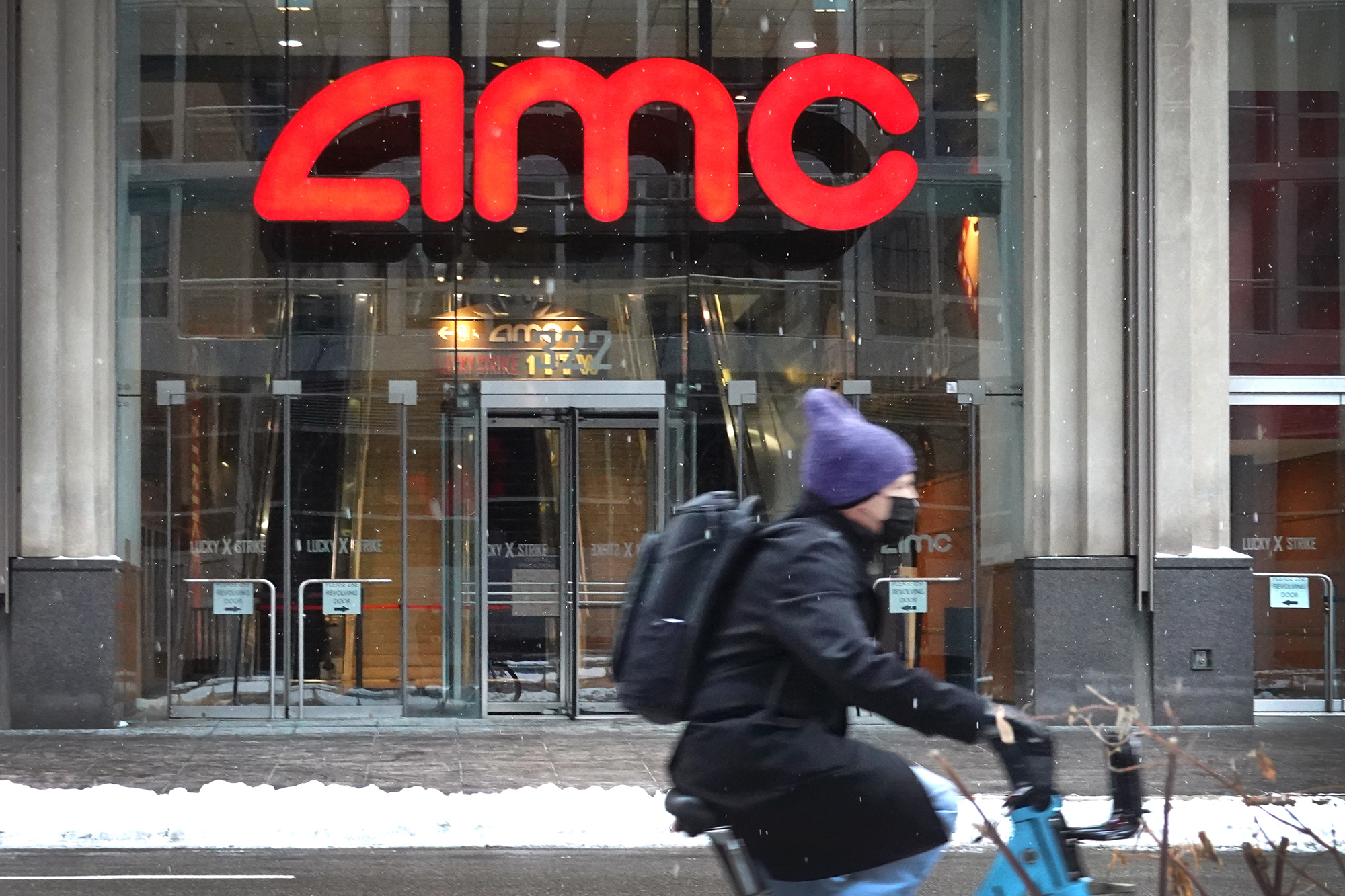 An AMC theater on January 27, 2021 in Chicago, Illinois.