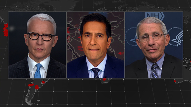 CNN's Anderson Cooper and Dr. Sanjay Gupta speak to Dr. Anthony Fauci.