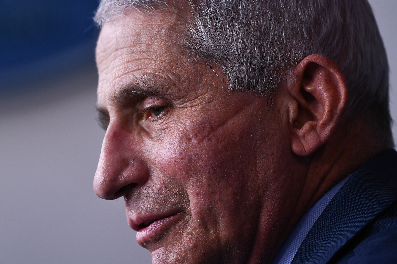Anthony Fauci speaks during a White House Coronavirus Task Force press briefing in the James S. Brady Briefing Room of the White House on November 19, 2020.