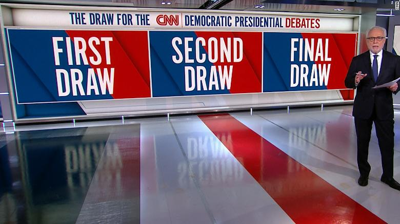 Image result for cnn democratic debate draw