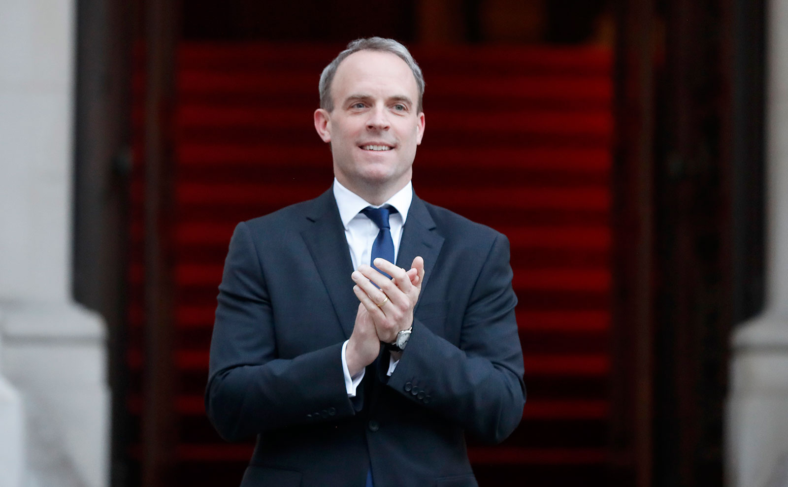 Britain's Foreign Secretary Dominic Raab in London on April 23.