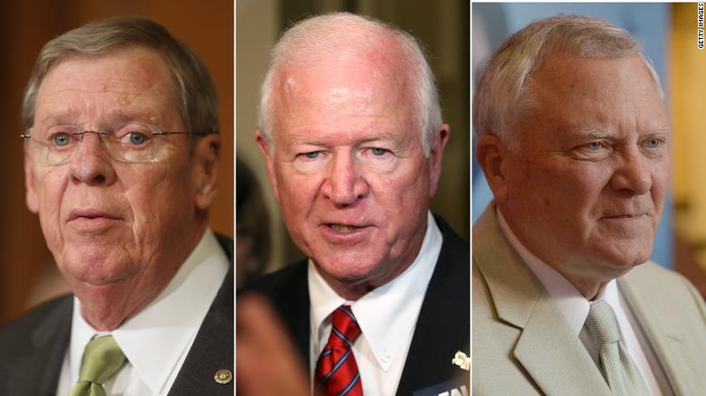 Ex-Senator Jonny Isakson, ex-Senators Saxby Chambliss and former Gov. Nathan Deal