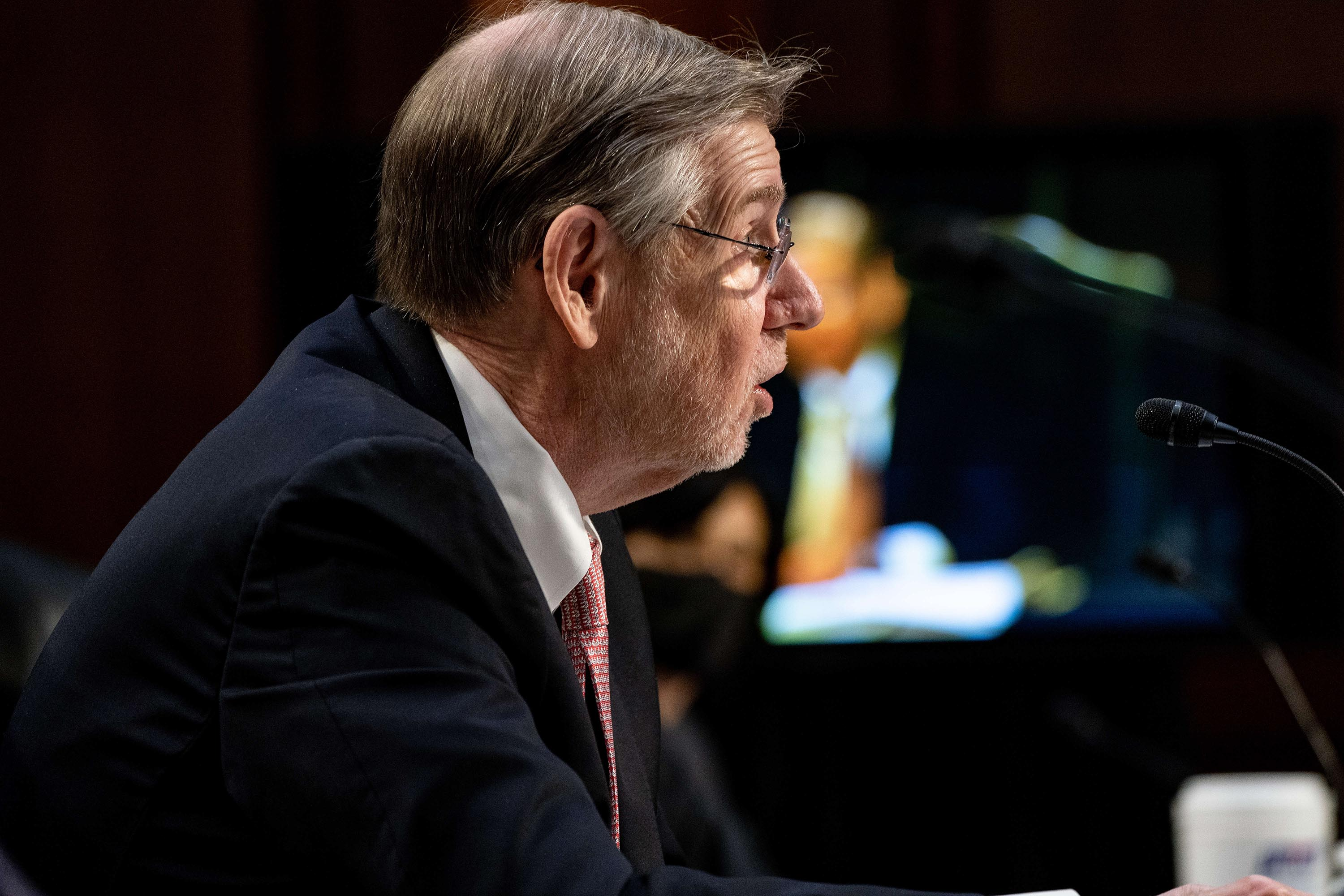 Dr. David Kessler, Chief Science Officer of the White House COVID-19 Response Team speaks during a hearing on the Covid-19 response, on Capitol Hill on March 18, 2021.