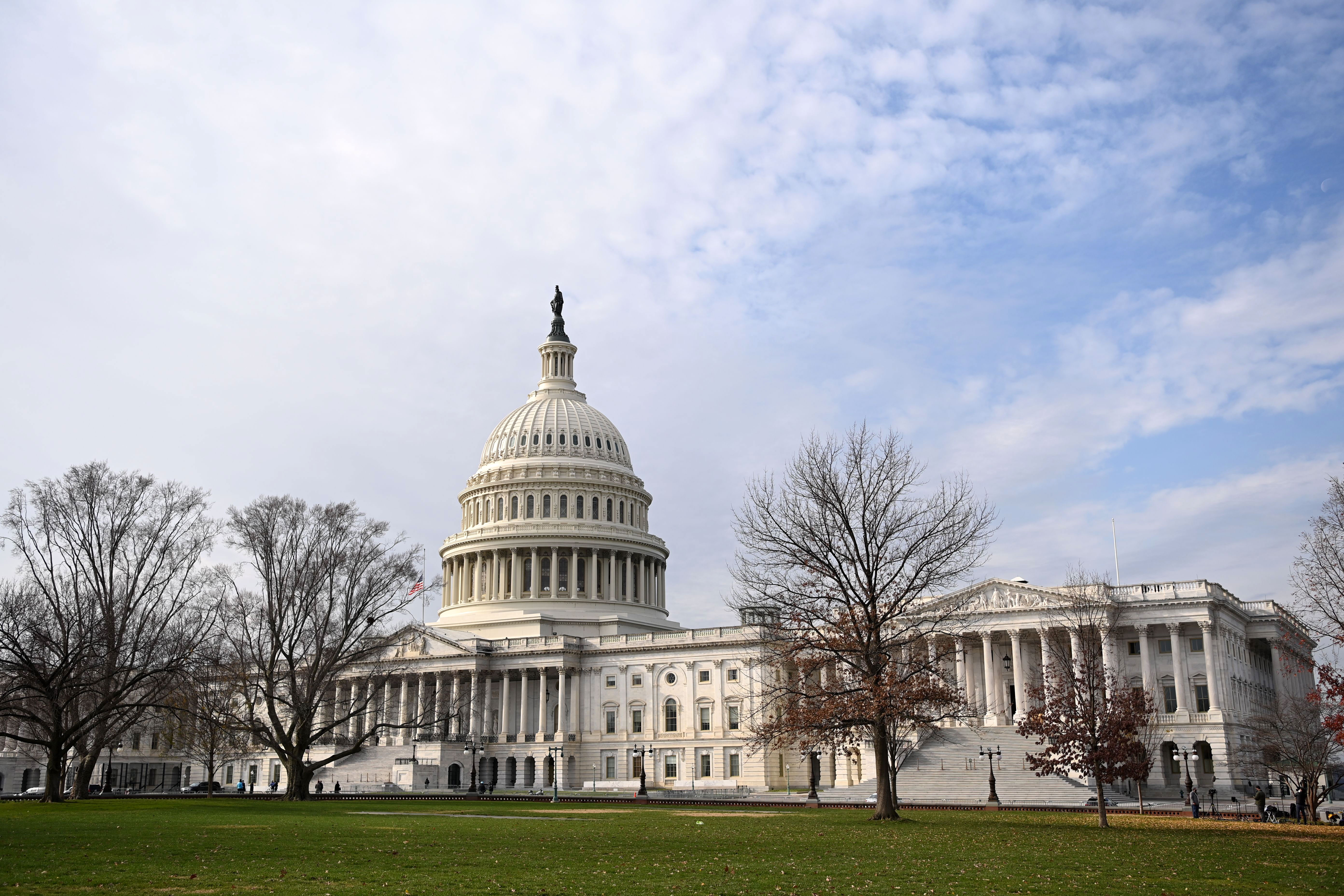 The United States Capitol is pictured in Washington, DC, on December 7.