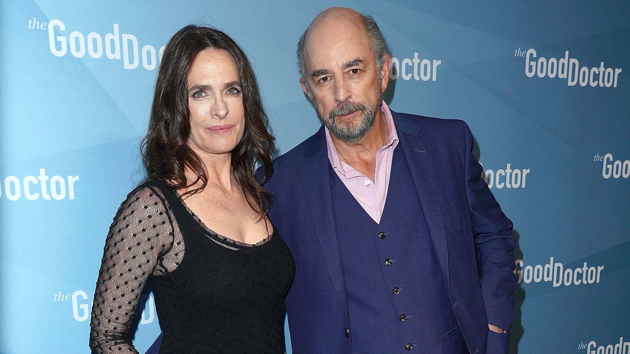 Actors Richard Schiff, right, and Sheila Kelley attend For Your Consideration Event for ABC's 'The Good Doctor' at Sony Pictures Studios on May 22, 2018 in Culver City, California.