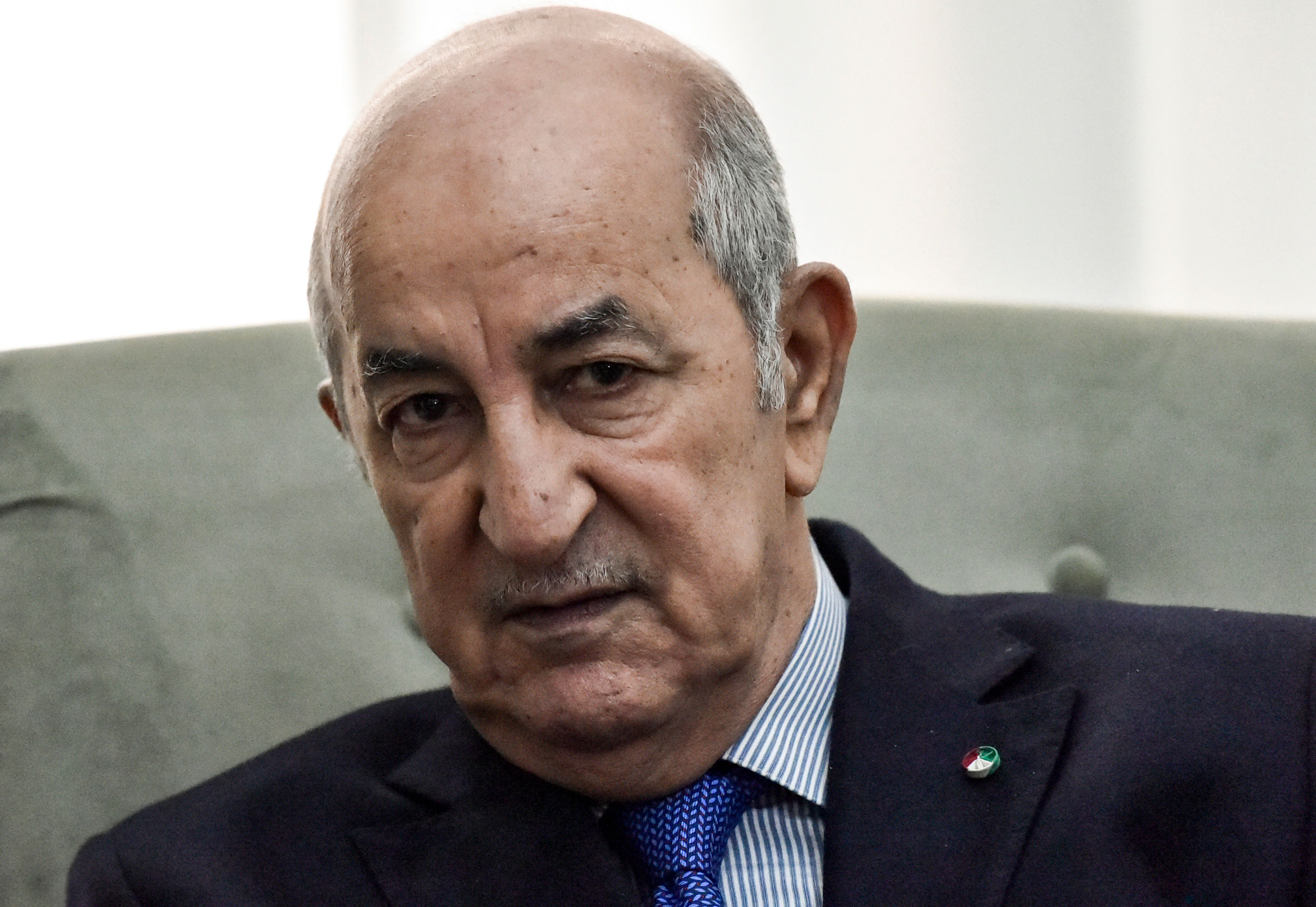 Algerian President Abdelmadjid Tebboune seen in Algiers in January.