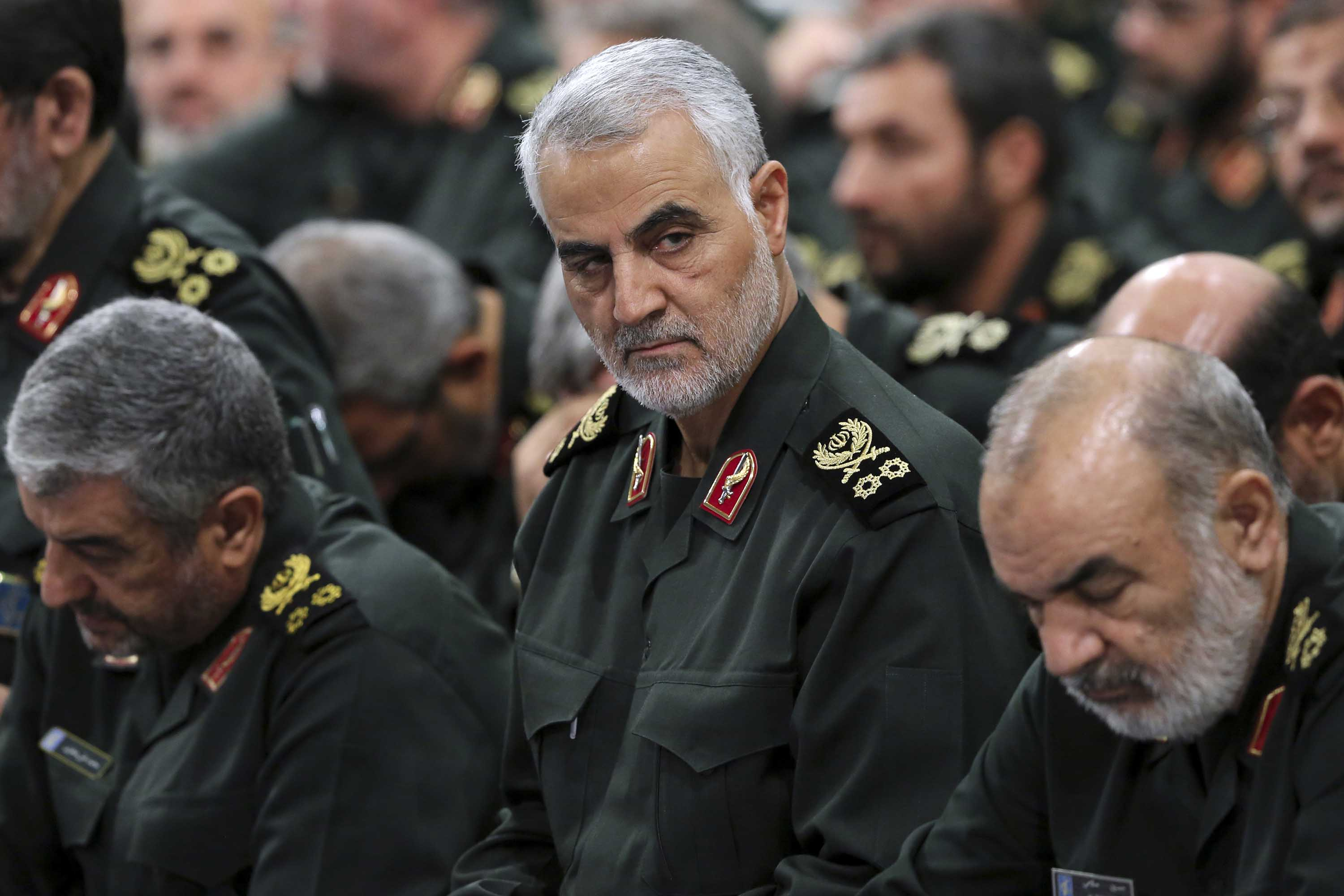 Soleimani attends a meeting in Tehran in September 2016. Credit: Handout/Office of the Iranian Supreme Leader via AP
