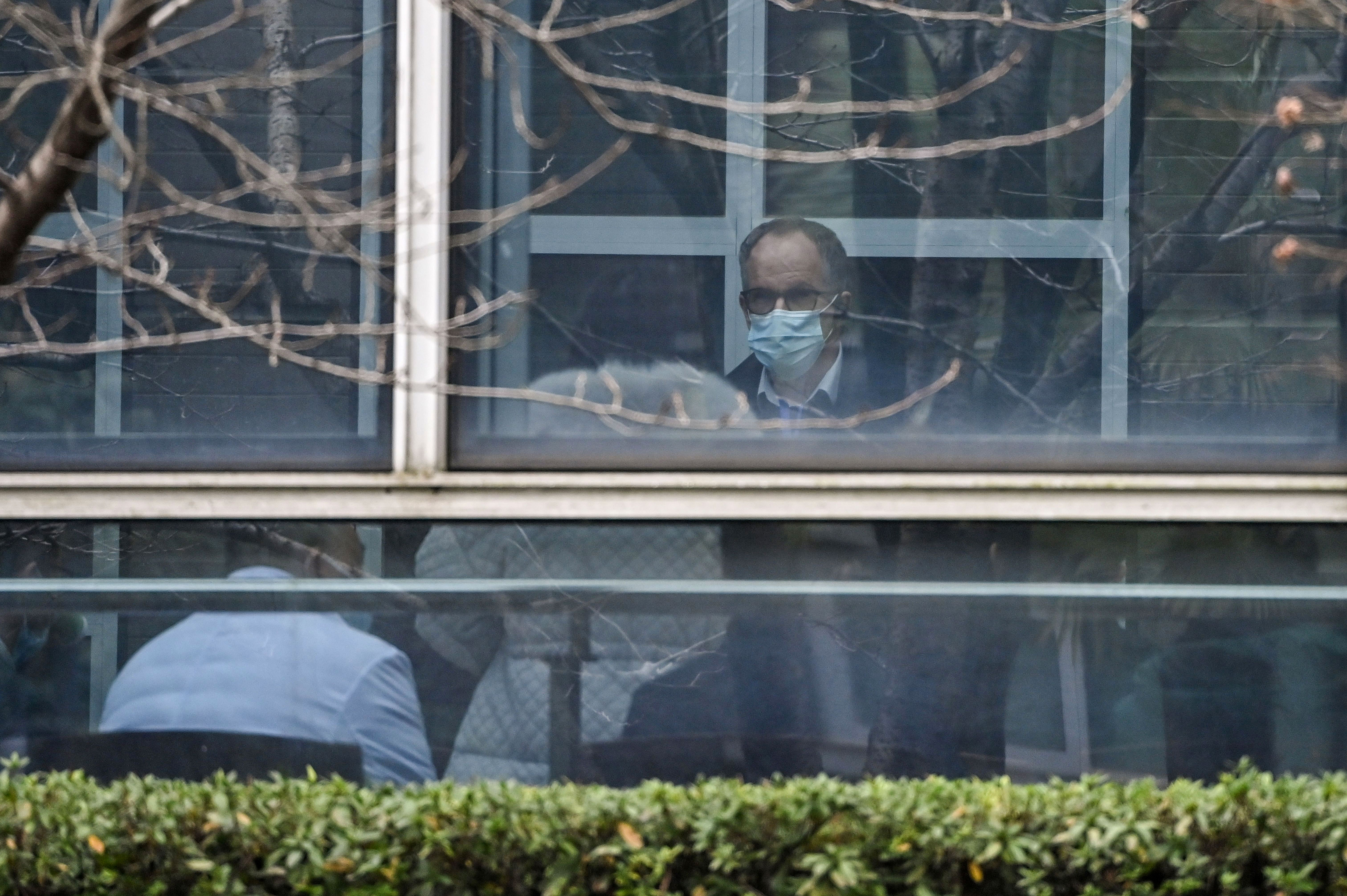 Peter Ben Embarek, the lead investigator for the World Health Organization team looking into the origins of the Covid-19 outbreak, is seen at the Hubei Animal Disease Control and Prevention Center in Wuhan, China, on February 2.