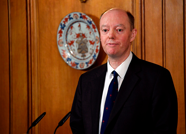 England's Chief Medical Officer Professor Chris Whitty